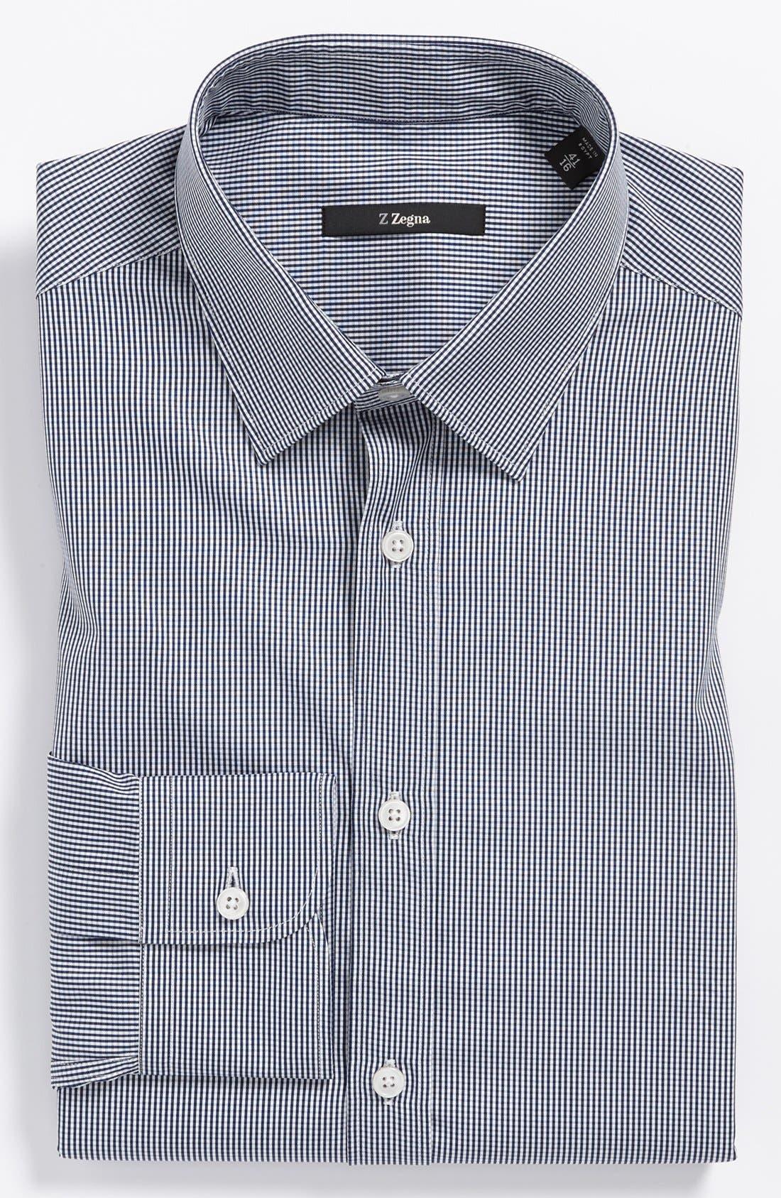 Main Image - Z Zegna Slim Fit Micro Check Dress Shirt