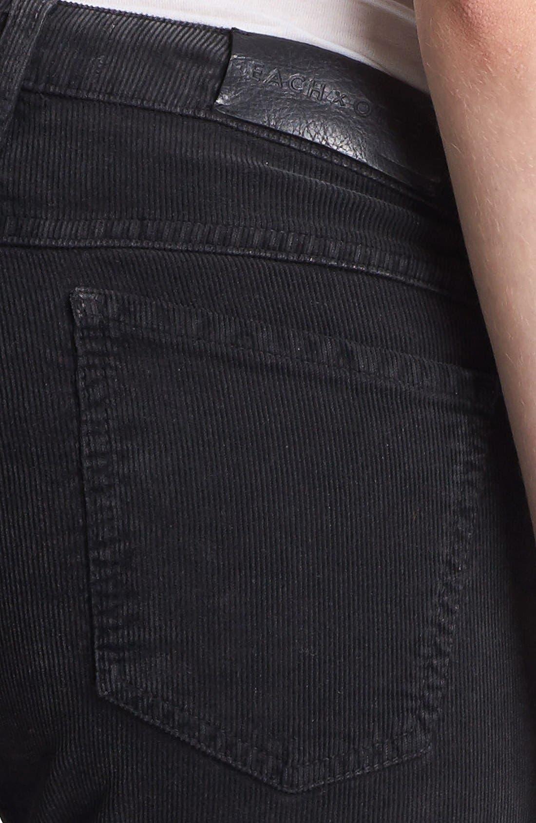 Alternate Image 4  - EACH X OTHER Skinny Deep Dye Corduroy Pants