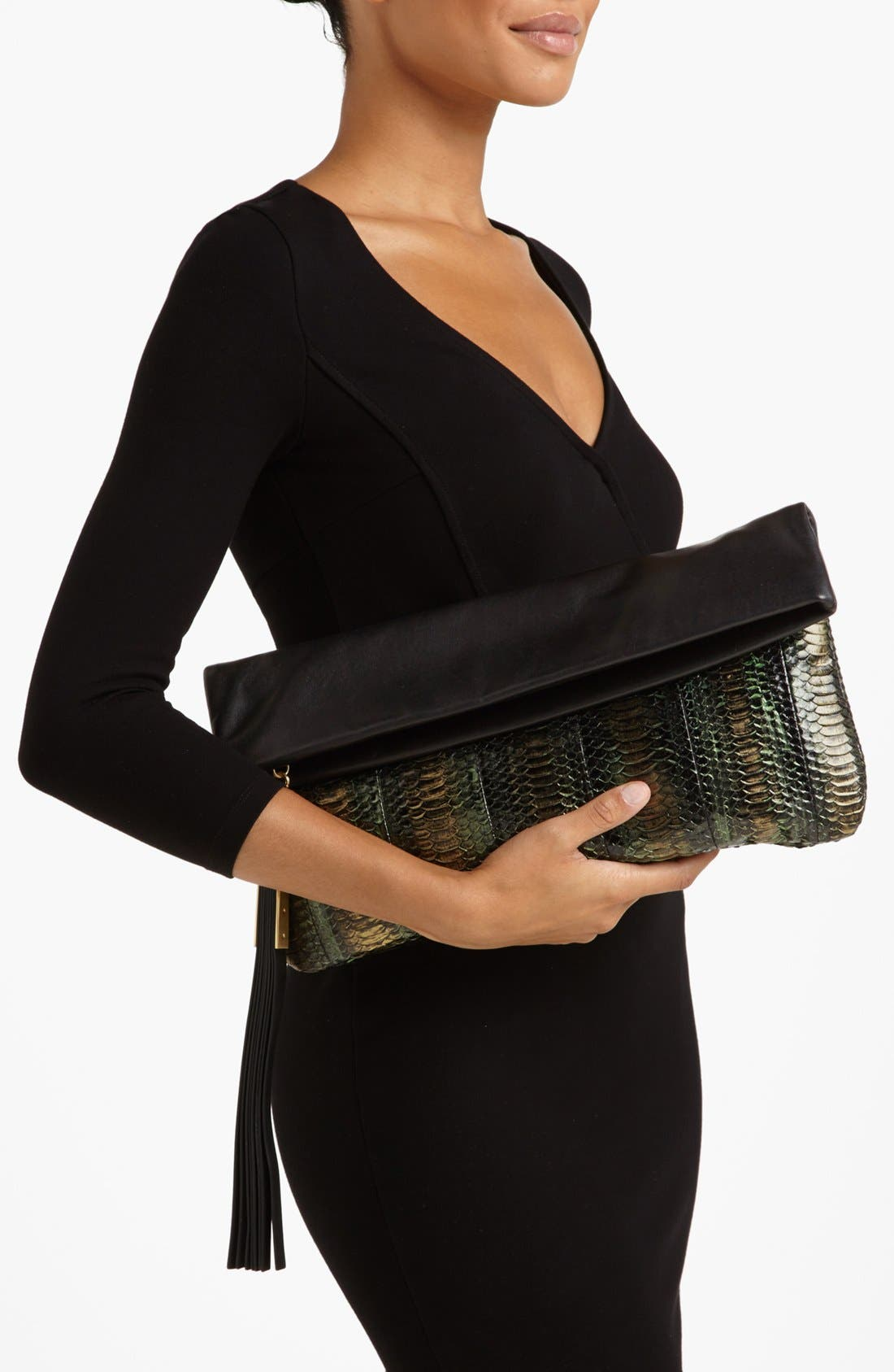 Alternate Image 2  - B Brian Atwood 'Robin' Leather Foldover Clutch