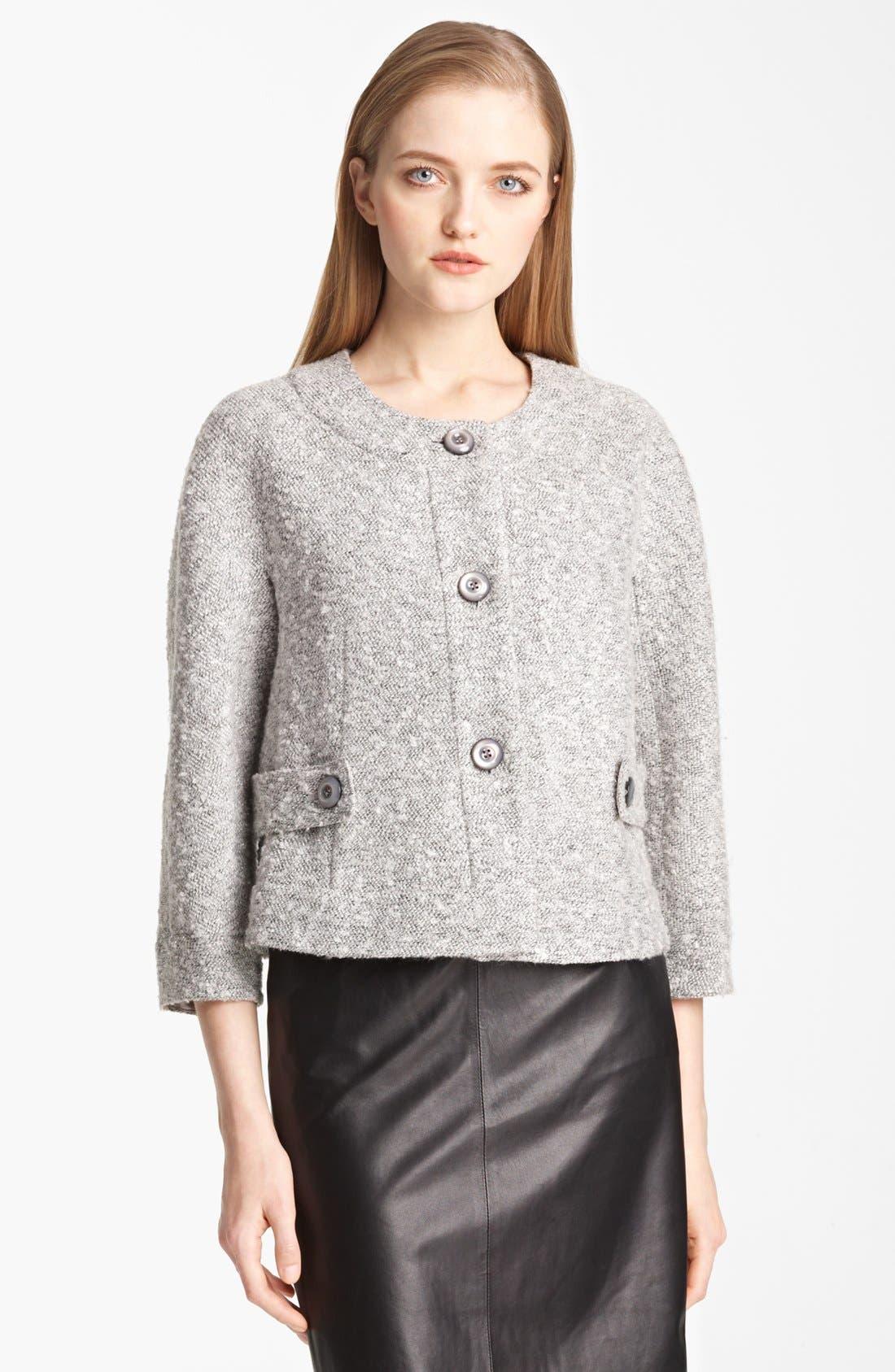 Main Image - Armani Collezioni Bouclé Jacket