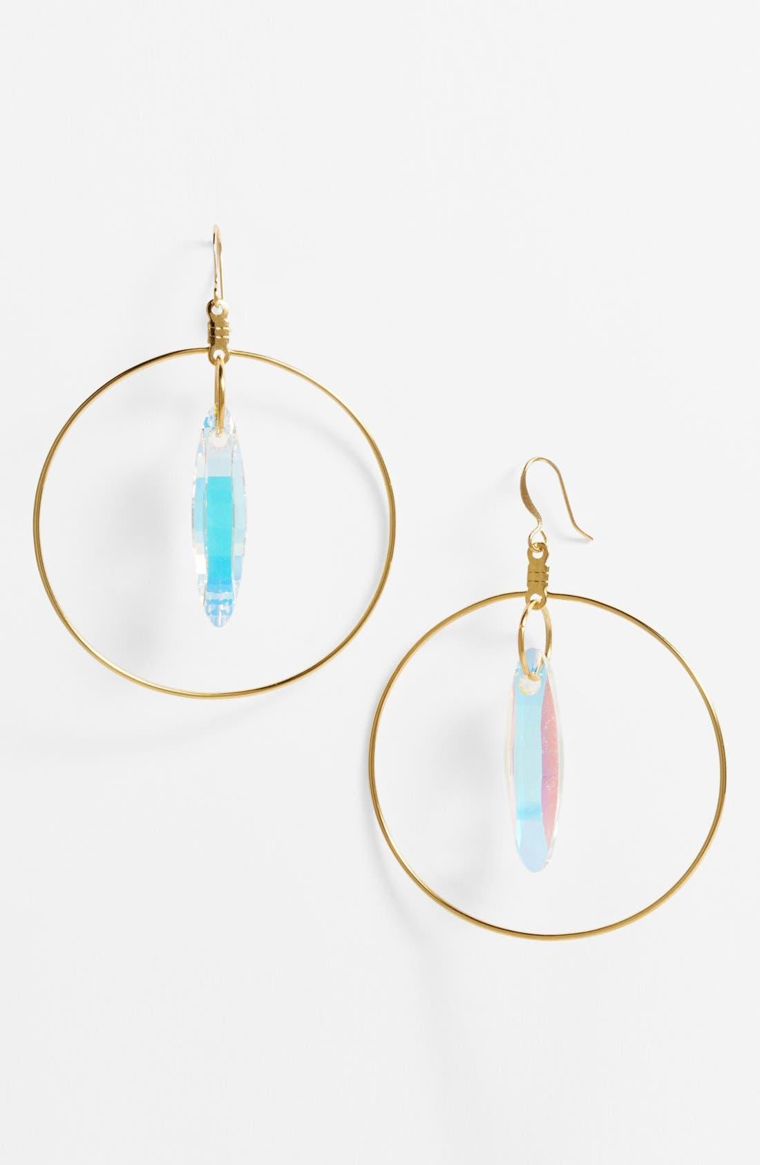 Main Image - Verdier Jewelry 'Aurora Borealis' Hoop Earrings