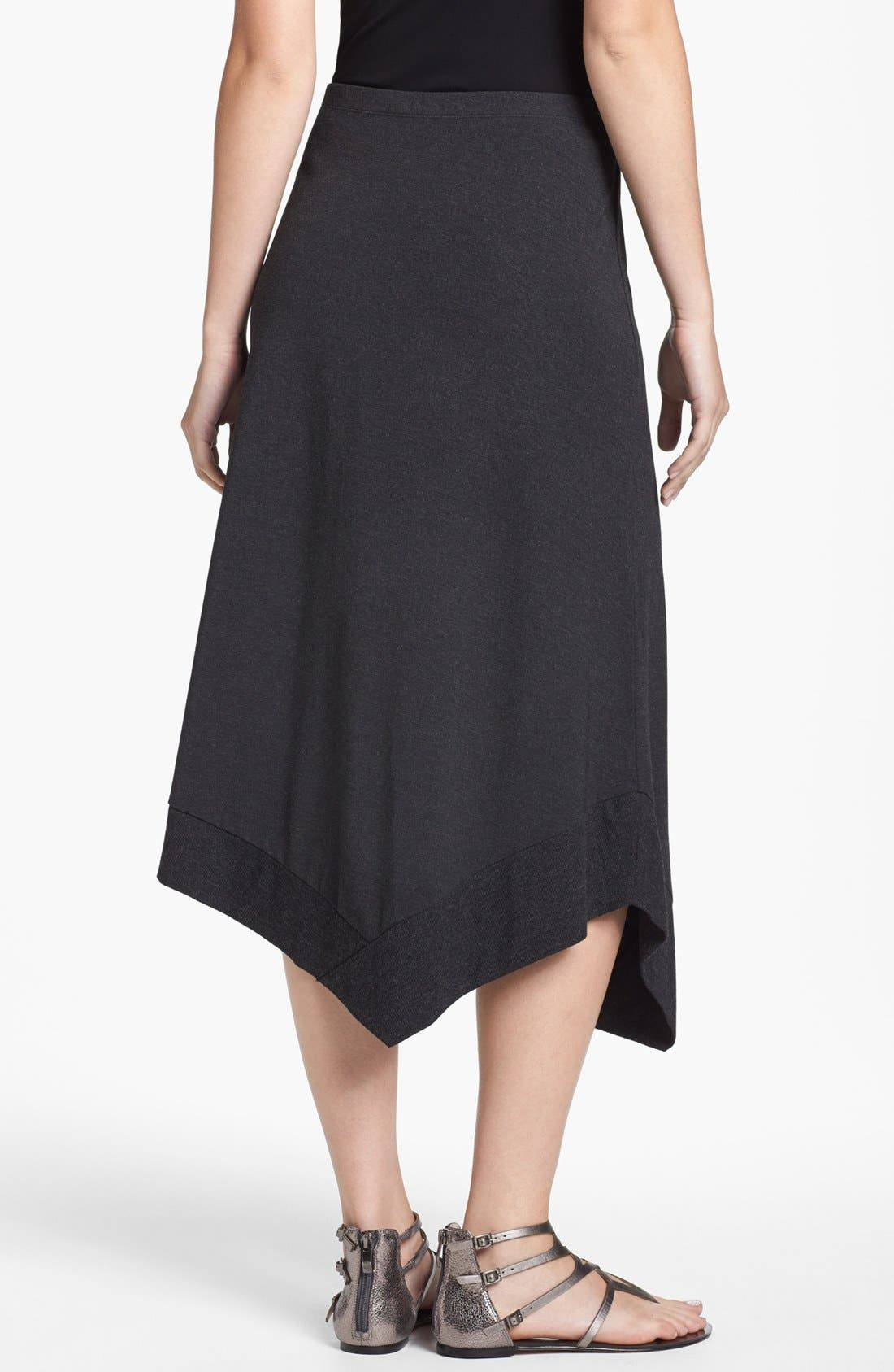 Alternate Image 2  - Eileen Fisher Asymmetrical Jersey Midi Skirt