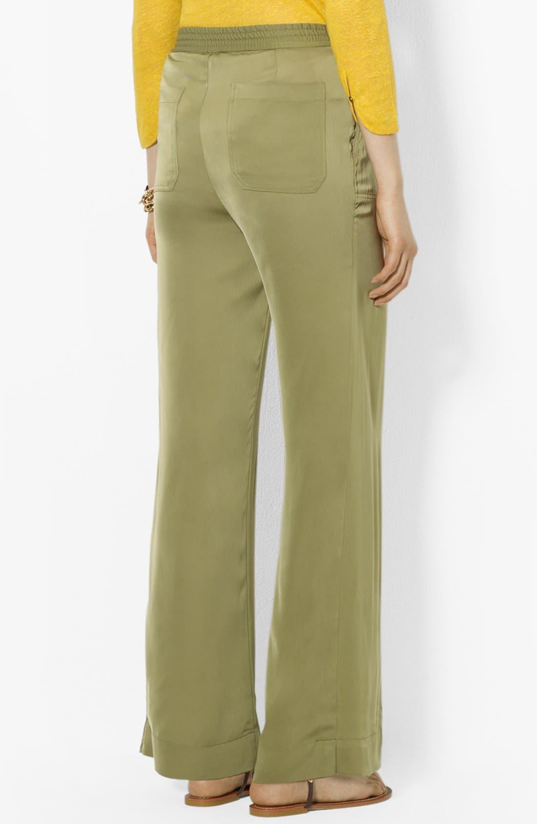 Alternate Image 2  - Lauren Ralph Lauren Wide Leg Pants (Petite)