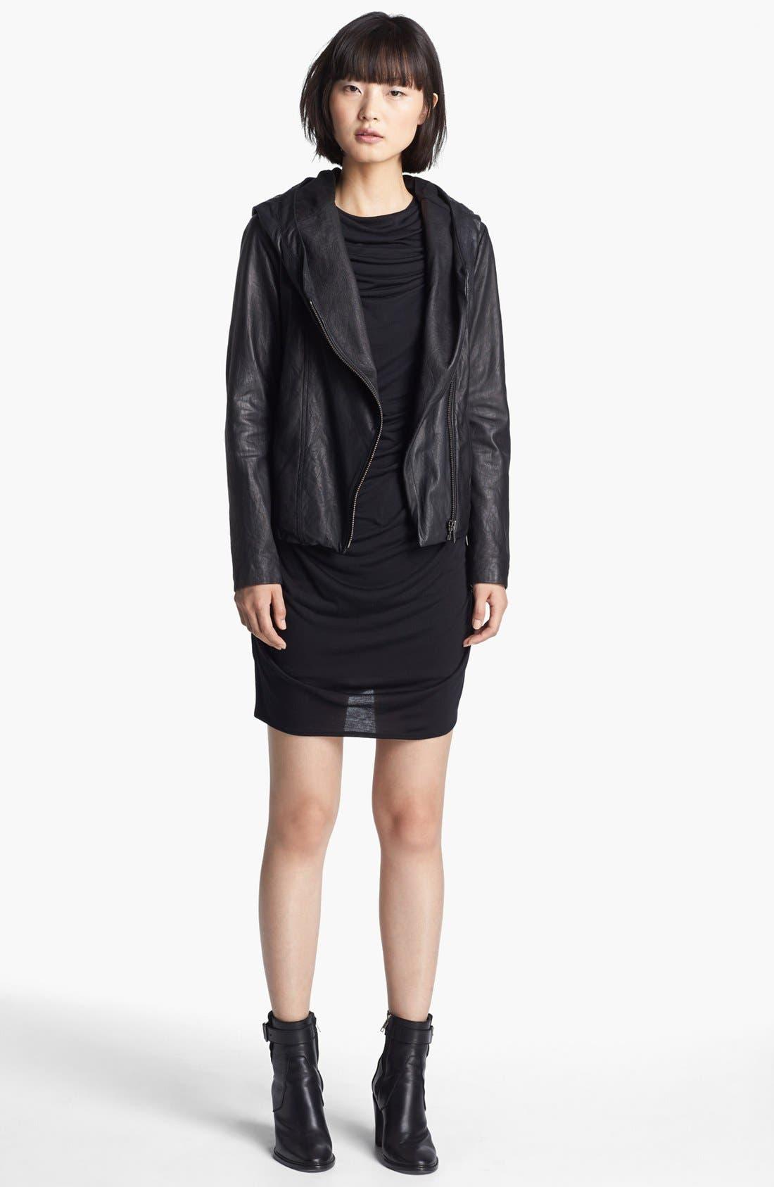 Alternate Image 2  - HELMUT Helmut Lang Hooded Washed Leather Jacket