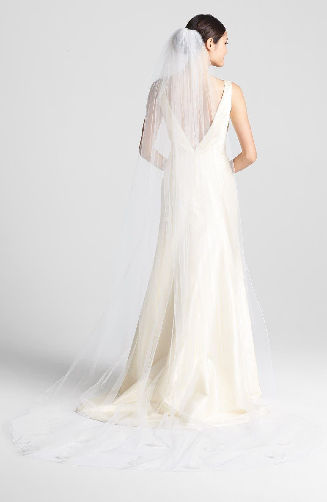 'Orchid' Cathedral Veil,                         Main,                         color, Ivory