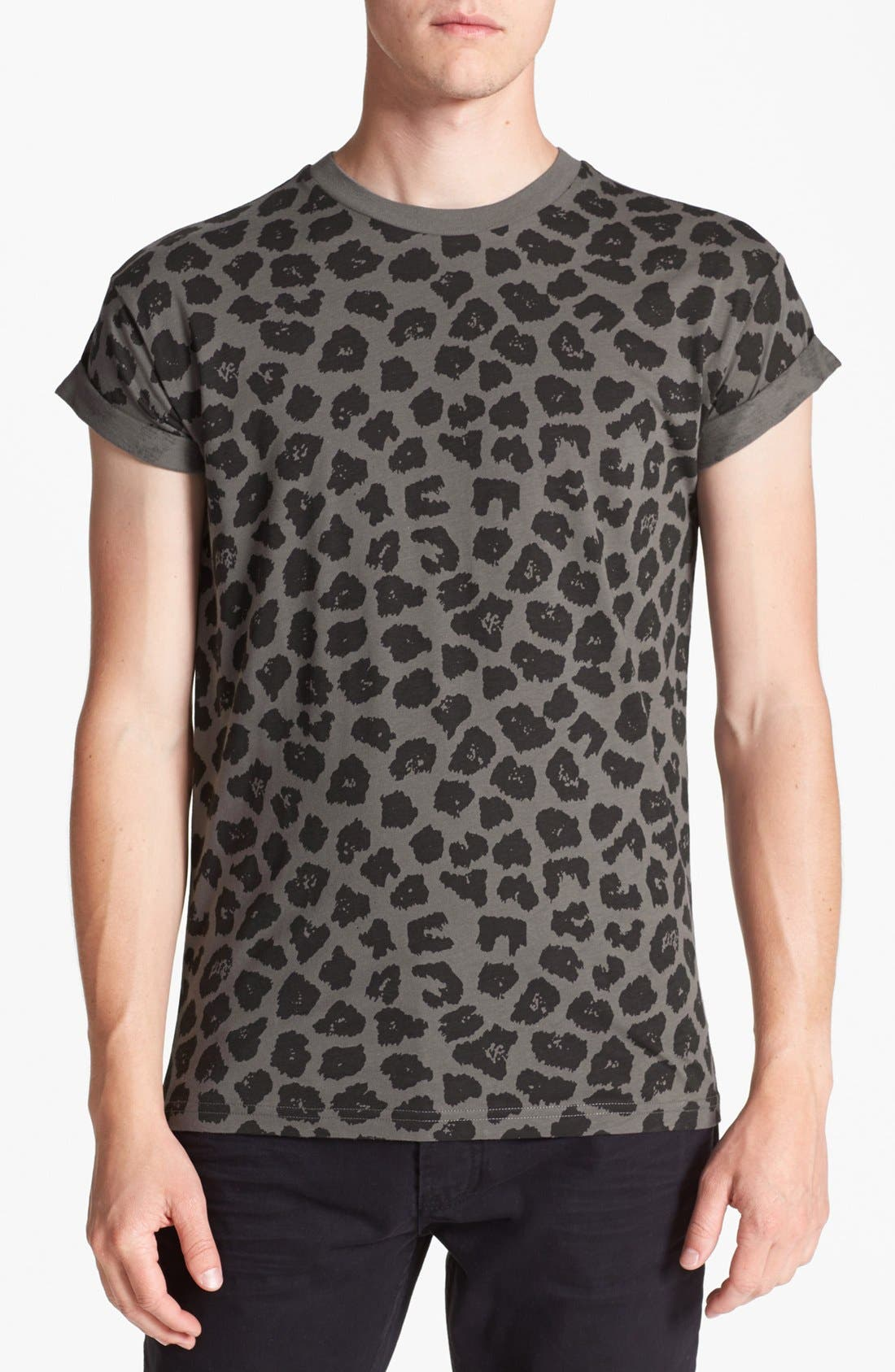 Alternate Image 1 Selected - Topman Leopard Print T-Shirt