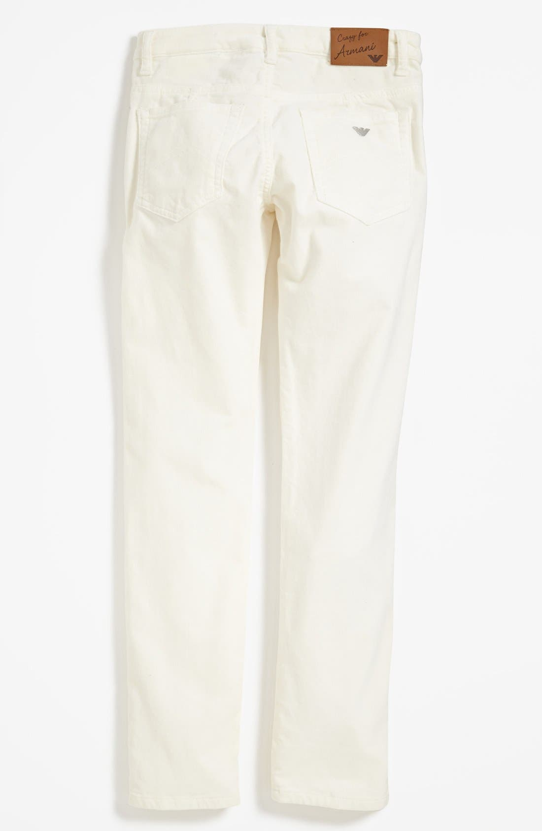 Alternate Image 1 Selected - Armani Junior Velvet Pants (Big Girls)