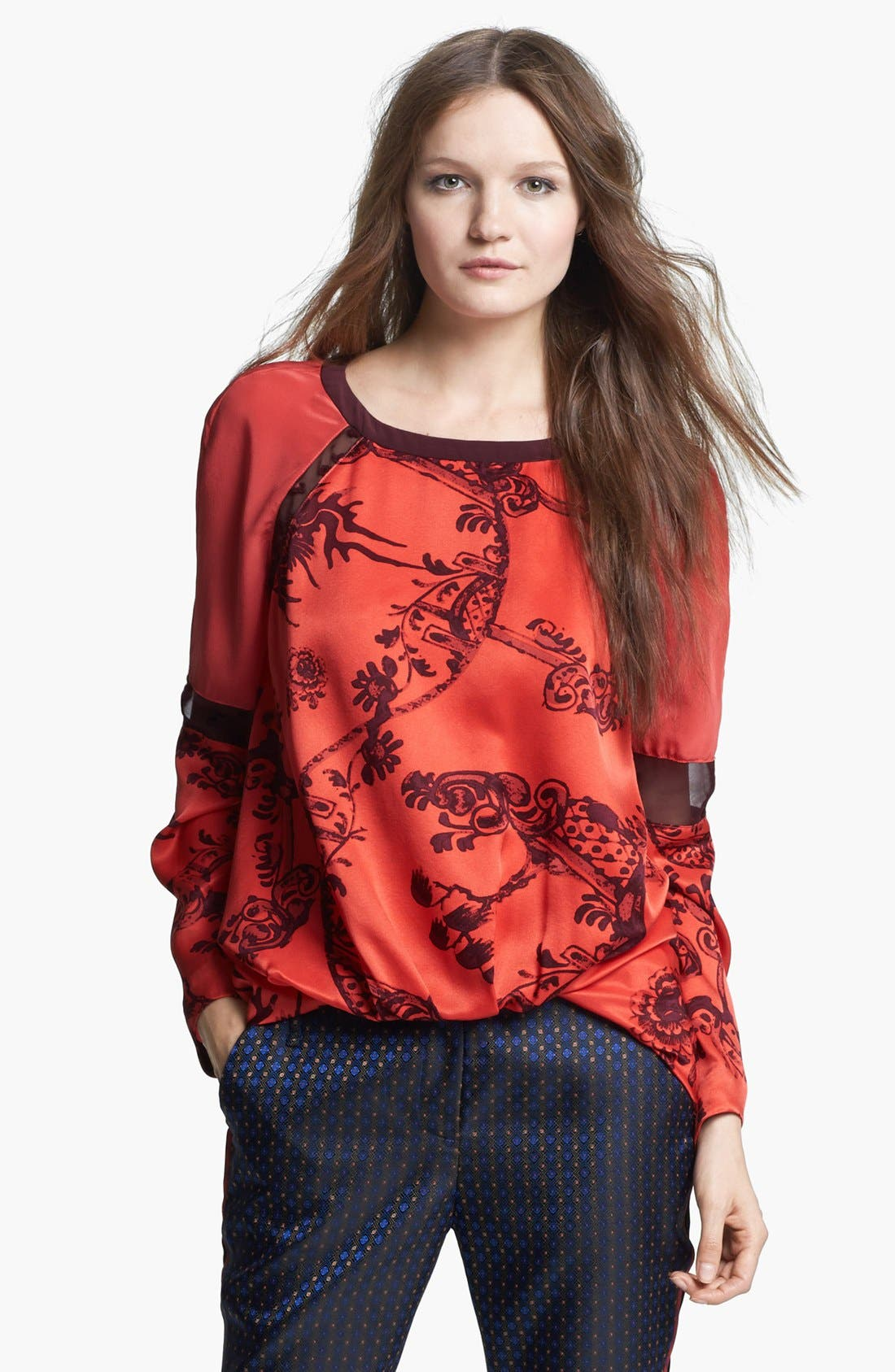 Alternate Image 1 Selected - Elizabeth and James 'Nostrand' Print Silk Blouse