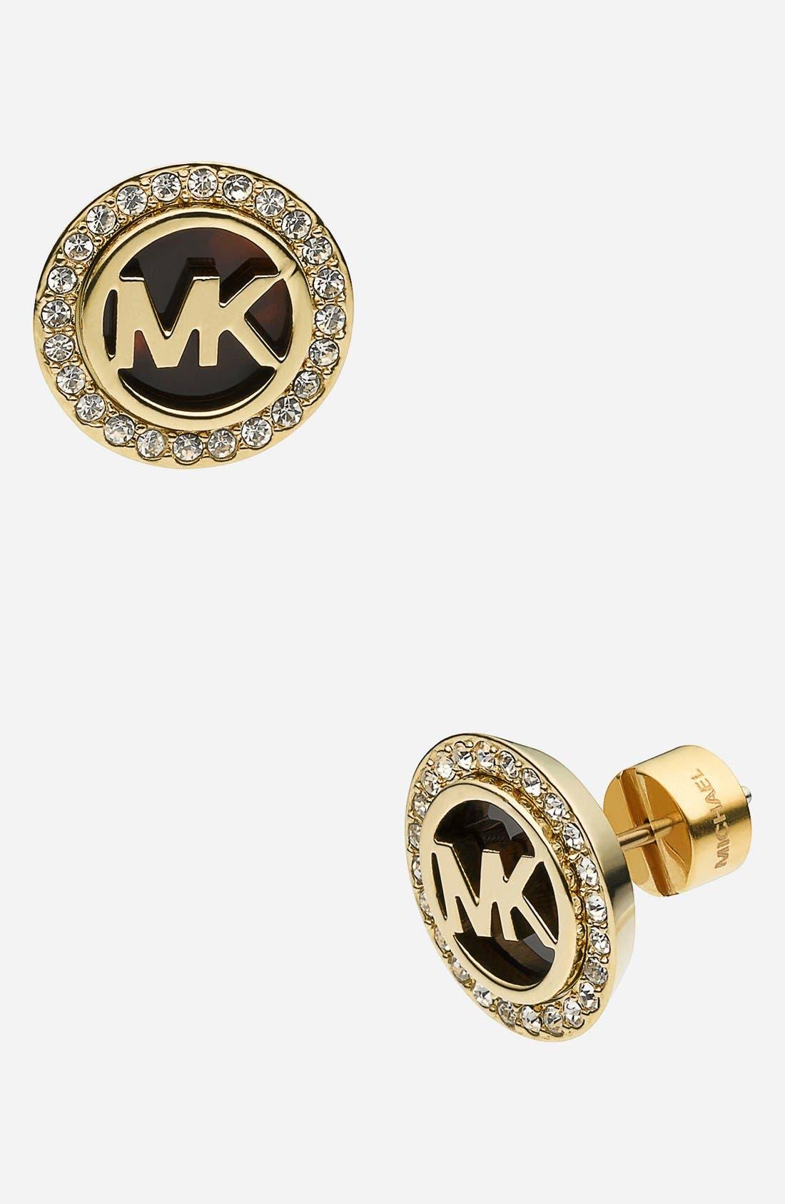 Alternate Image 1 Selected - Michael Kors 'Monogram' Stud Earrings