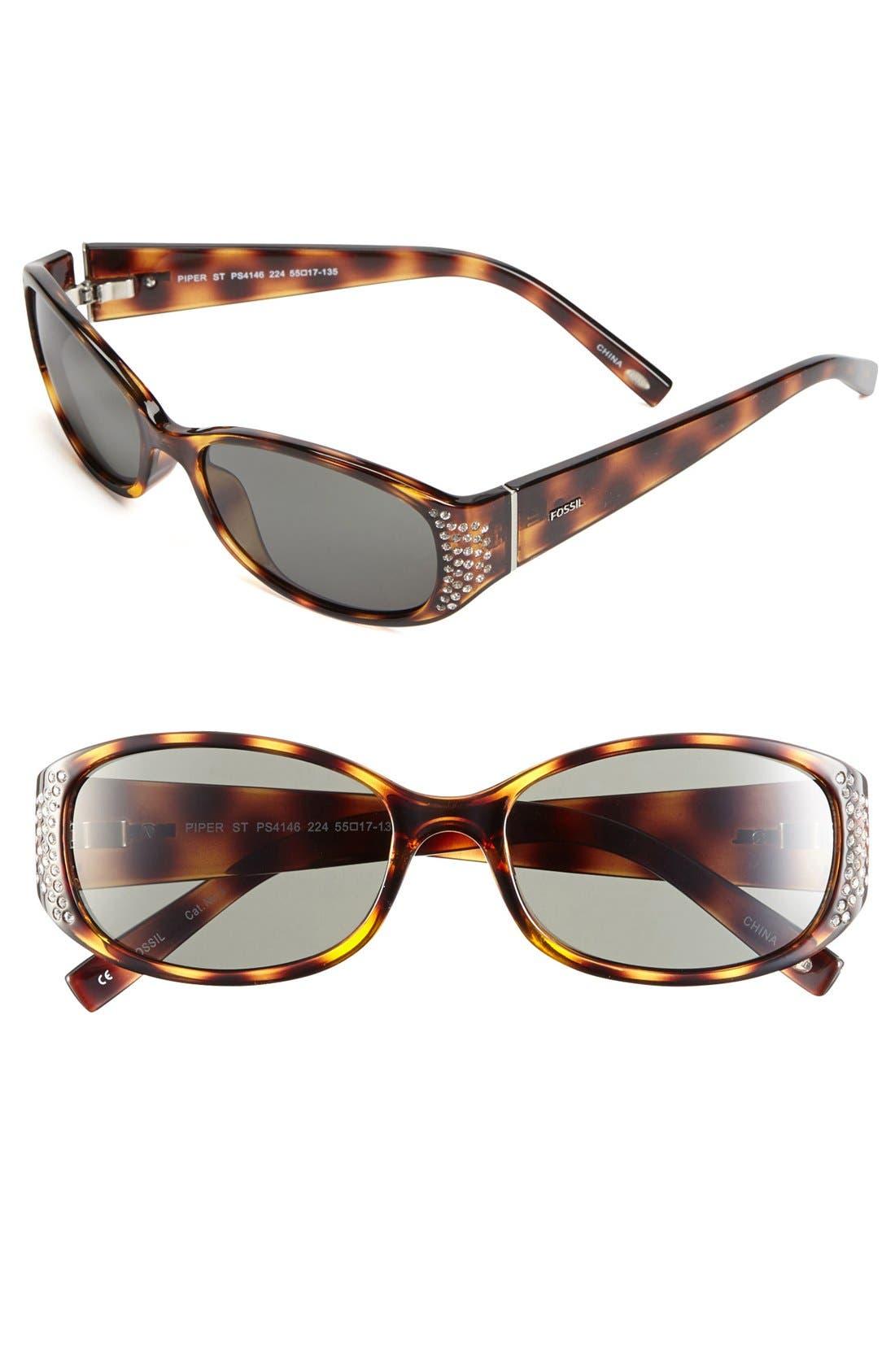 Main Image - Fossil 'Piper Street' 55mm Sunglasses