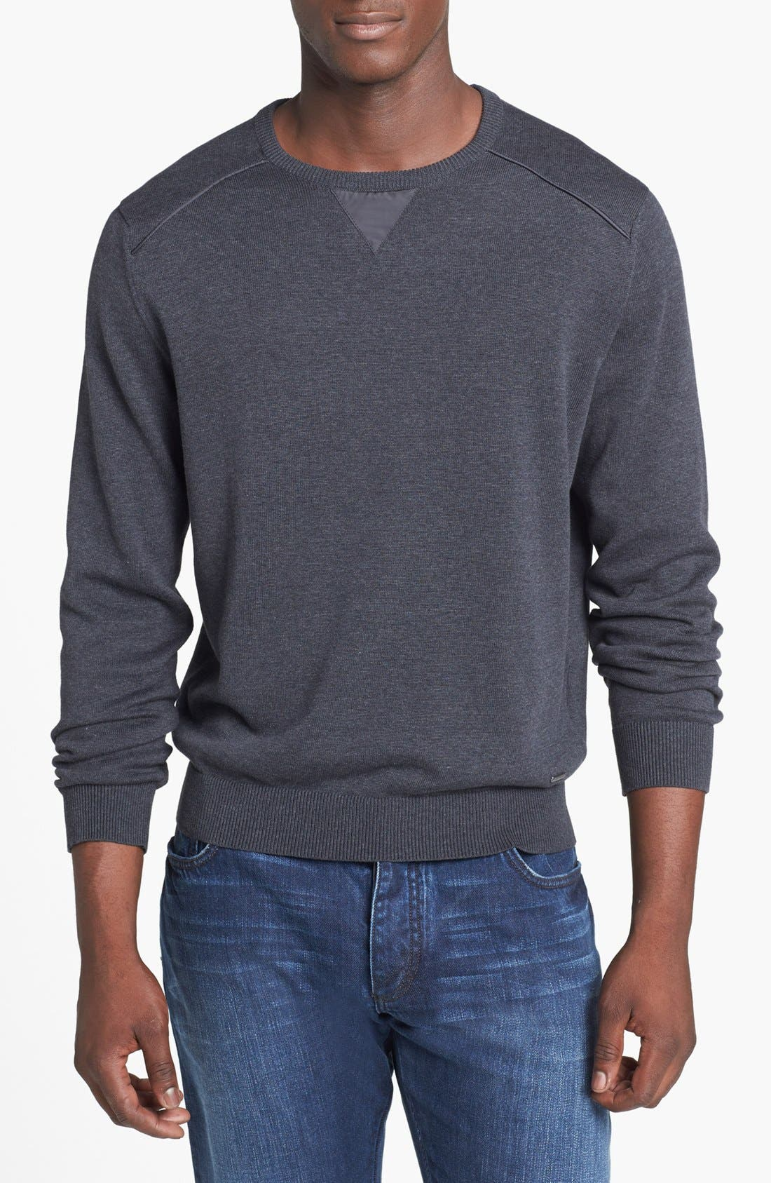 Alternate Image 1 Selected - Zegna Sport Water Repellent Crew Neck Sweater