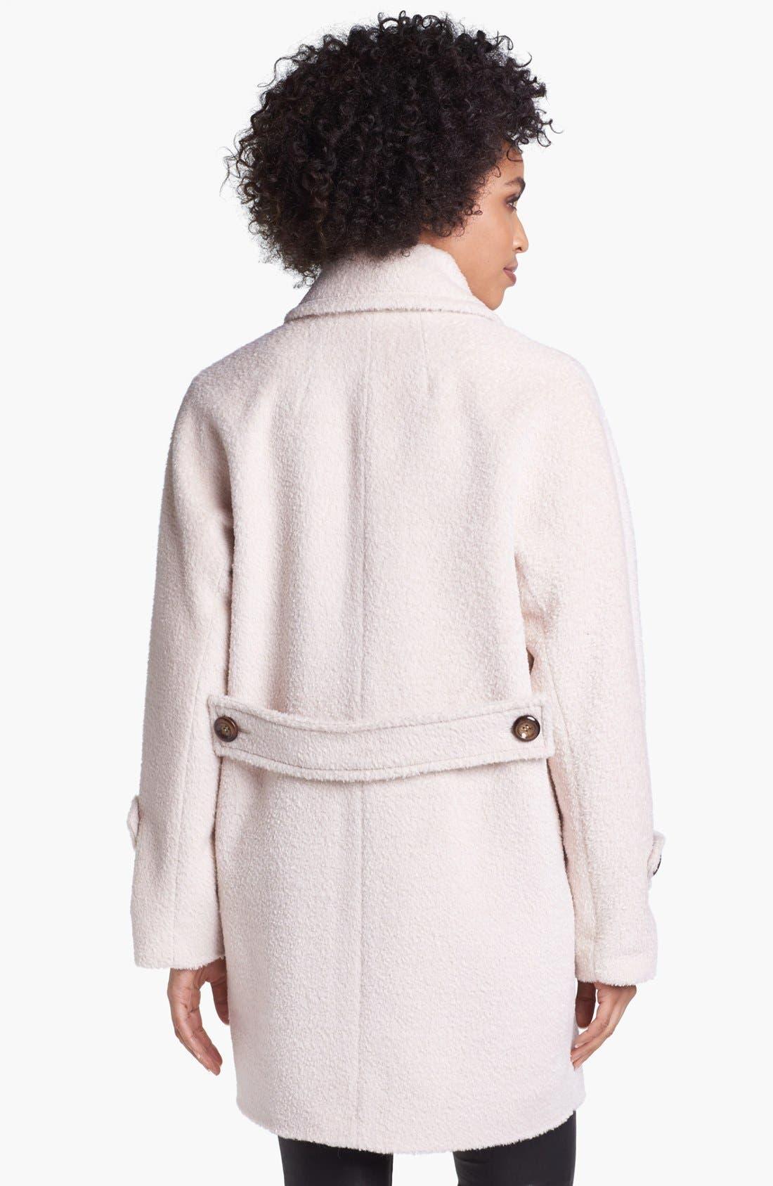 'Nancy' Sheared Wool & Alpaca Blend Coat,                             Alternate thumbnail 3, color,                             Champagne