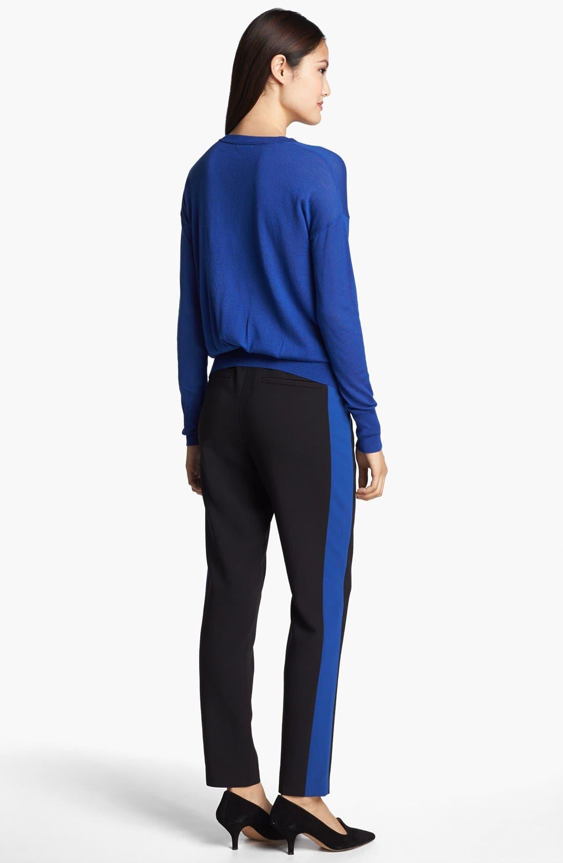 Alternate Image 3  - Halogen® 'Quinn' Tuxedo Skinny Ankle Pants