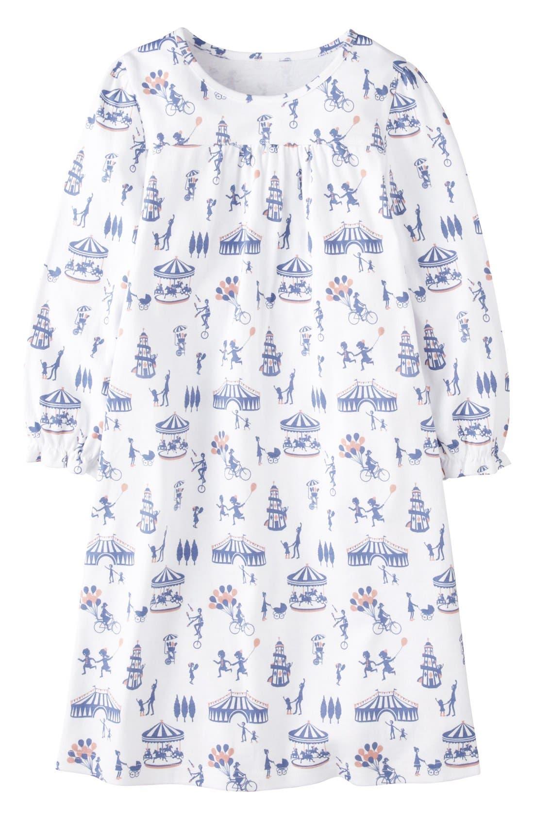 Main Image - Mini Boden Print Cotton Nightie (Little Girls & Big Girls)