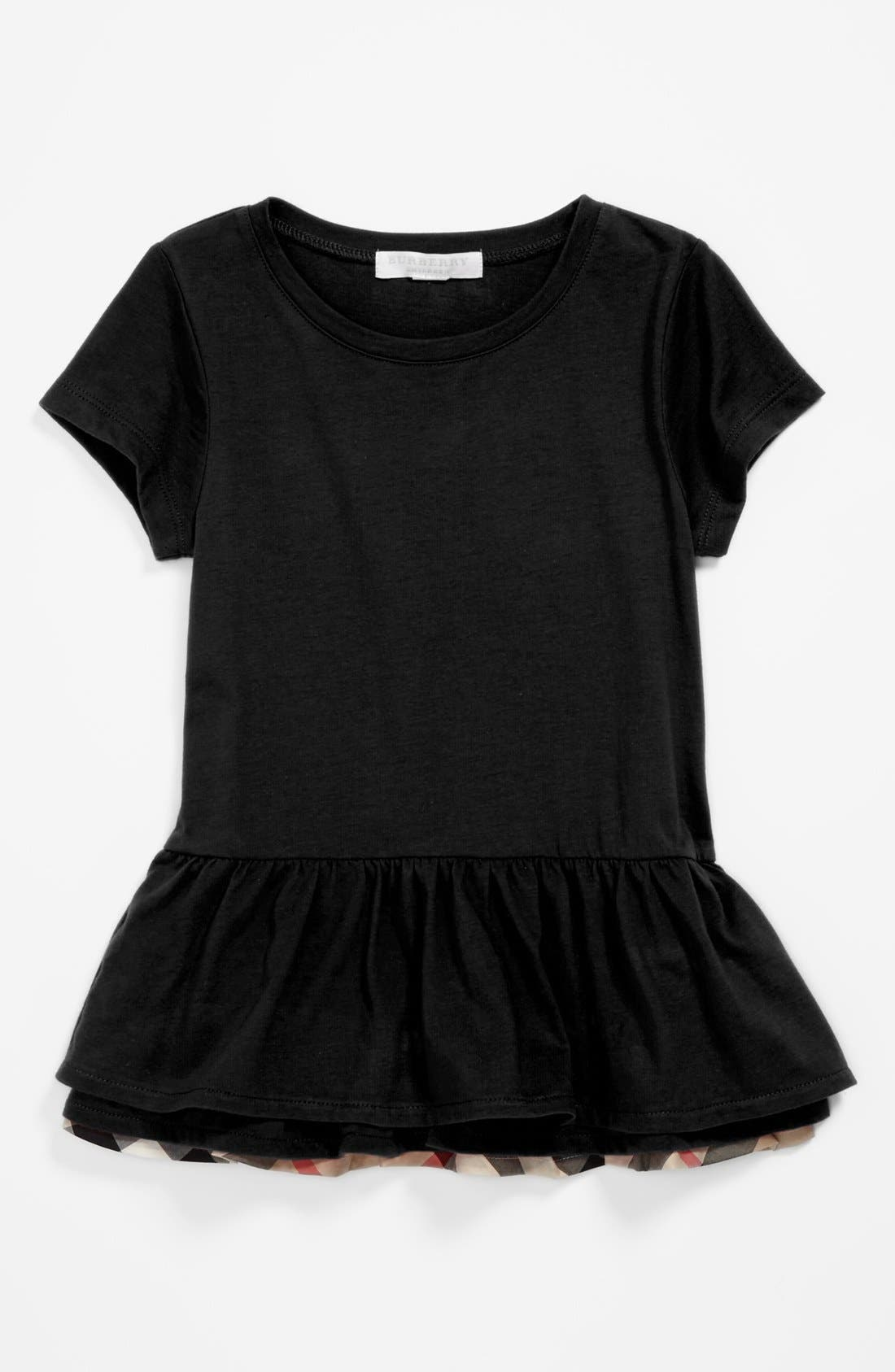 Alternate Image 1 Selected - Burberry 'Tyna' Tiered Ruffle Hem Top (Toddler Girls, Little Girls & Big Girls)