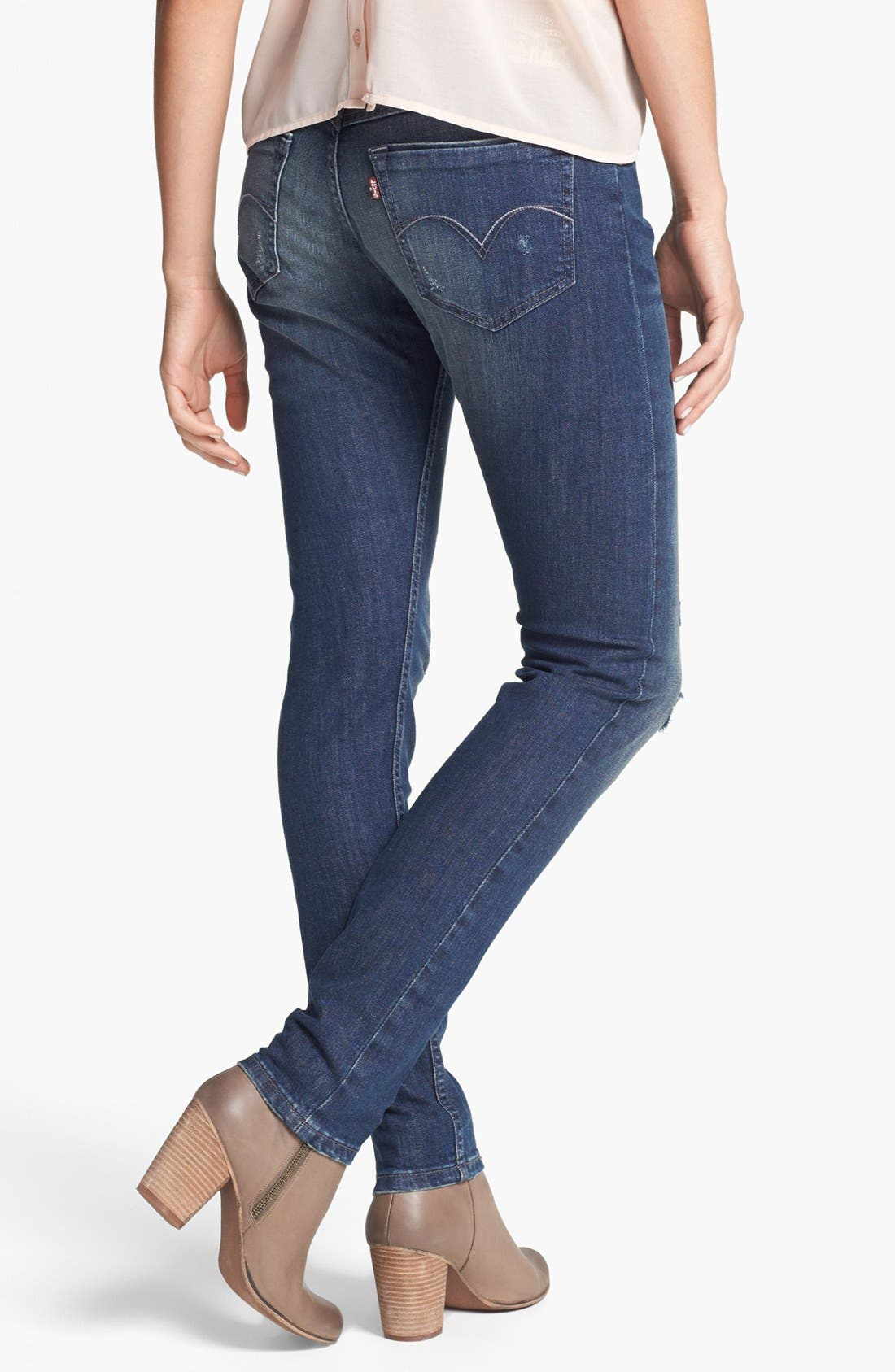 Alternate Image 2  - Levi's® 'XP' Boyfriend Skinny Jeans (Miners Blue)