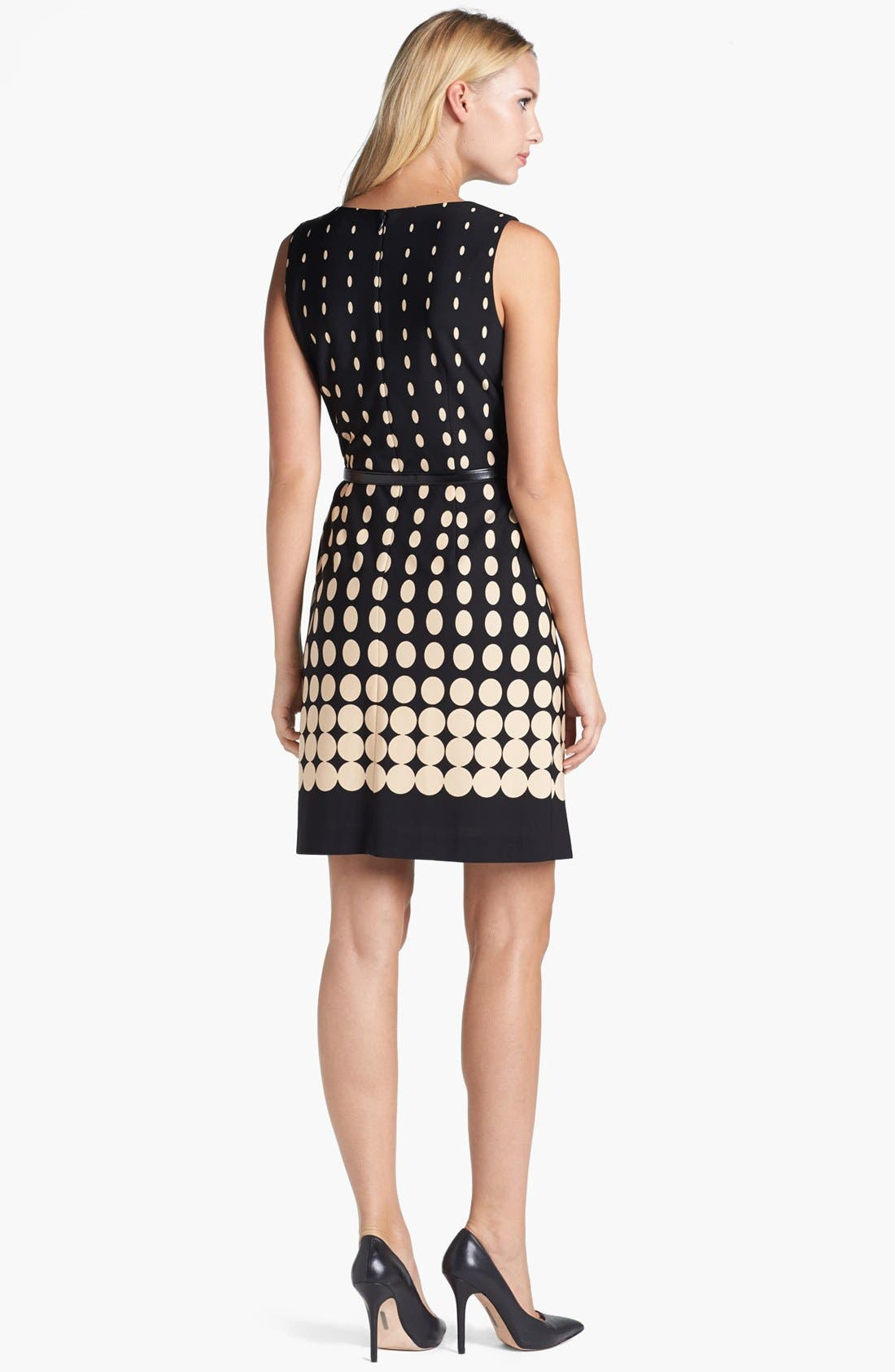 Alternate Image 2  - Tahari Dot Fit & Flare Dress