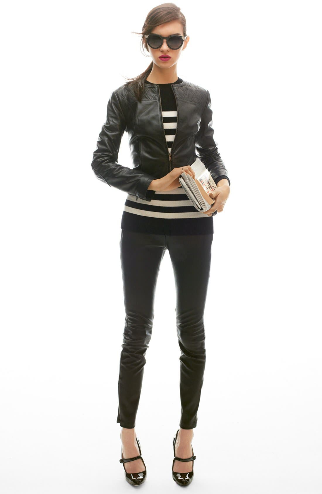 Alternate Image 5  - Miss Wu 'Zucca' Stripe Cashmere Blend Sweater (Nordstrom Exclusive)