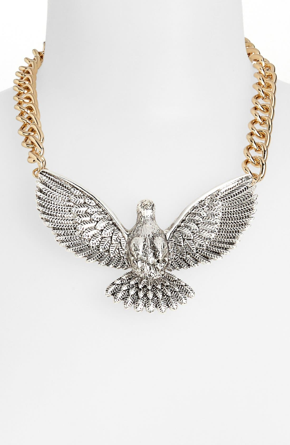Main Image - Topshop Turtle Dove Collar Necklace
