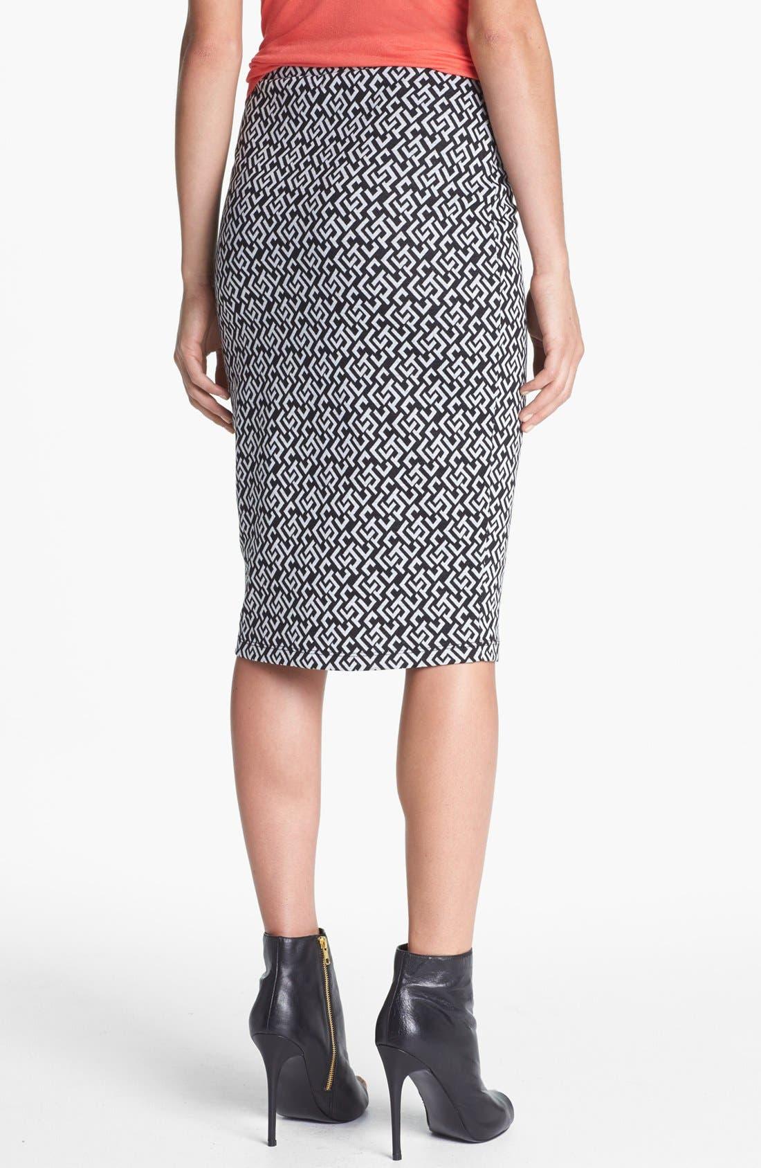 Alternate Image 2  - Bobeau Jacquard Knit Midi Skirt