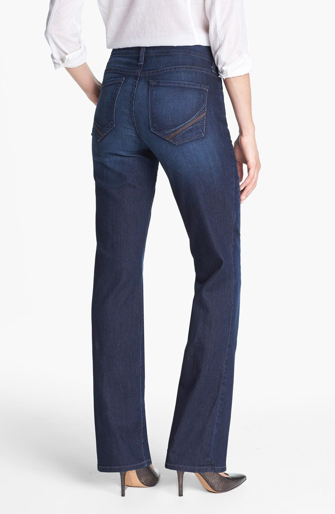 Alternate Image 2  - NYDJ 'Barbara' Embellished Stretch Bootcut Jeans (Burbank)