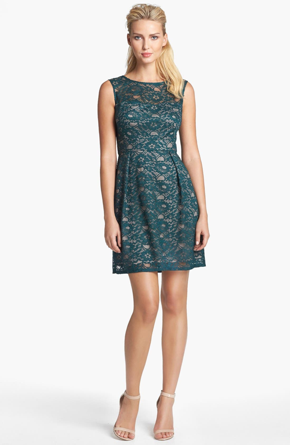 Main Image - Donna Ricco Lace Fit & Flare Dress