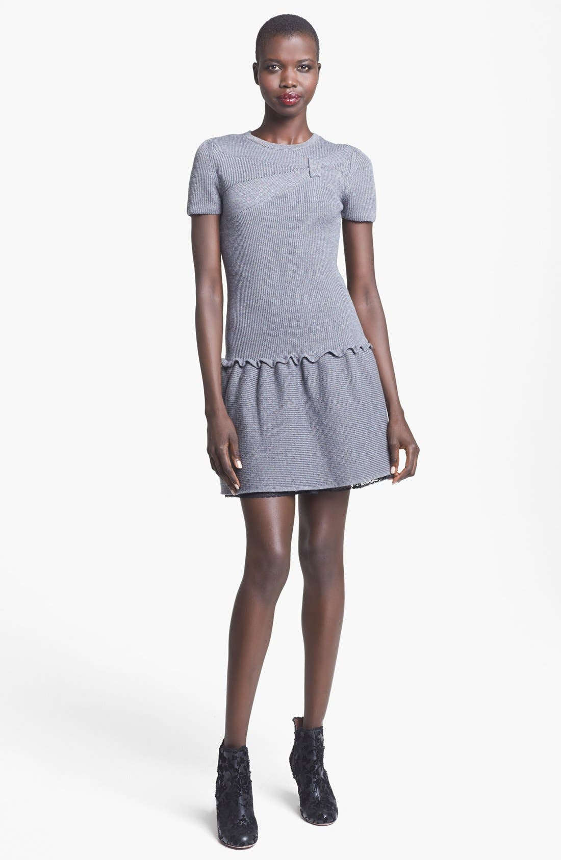 Alternate Image 1 Selected - RED Valentino Bow Detail Knit Dress