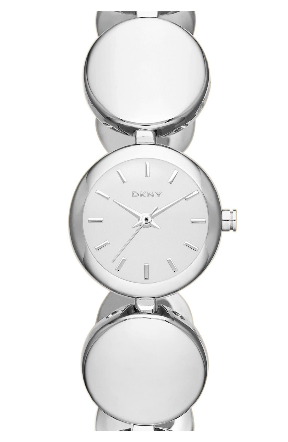 Alternate Image 1 Selected - MIRROR DOT LINK BRACELET WATCH
