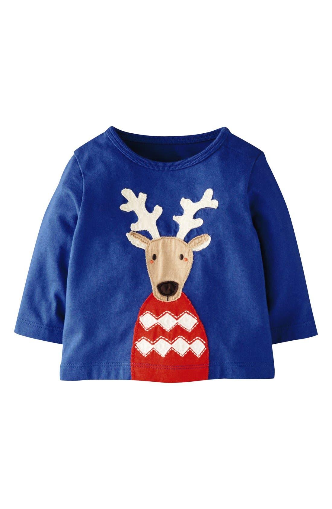 Alternate Image 1 Selected - Mini Boden 'Big Appliqué' T-Shirt (Baby Boys)