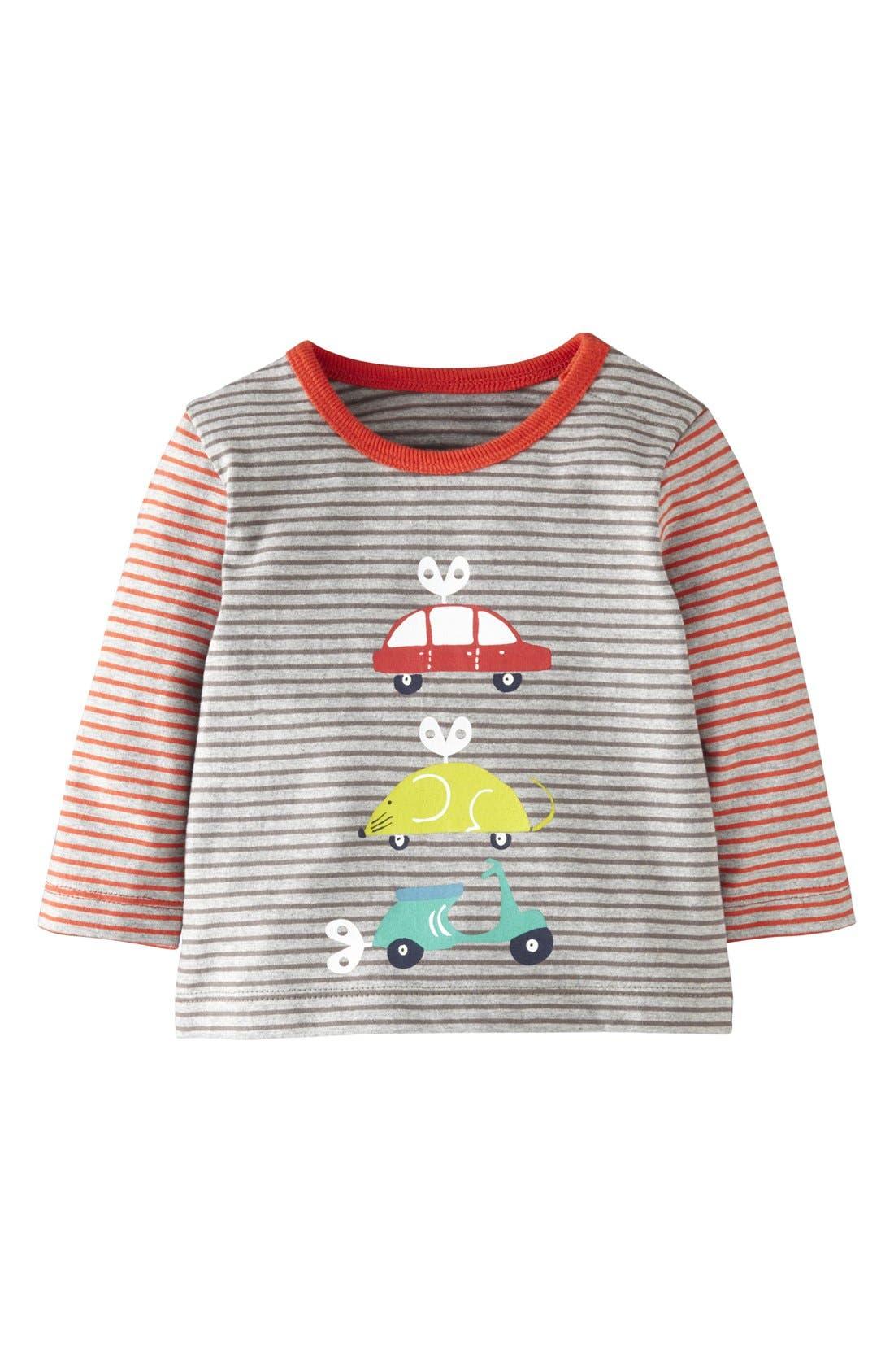 Alternate Image 1 Selected - Mini Boden Stripe Long Sleeve T-Shirt (Baby Boys)