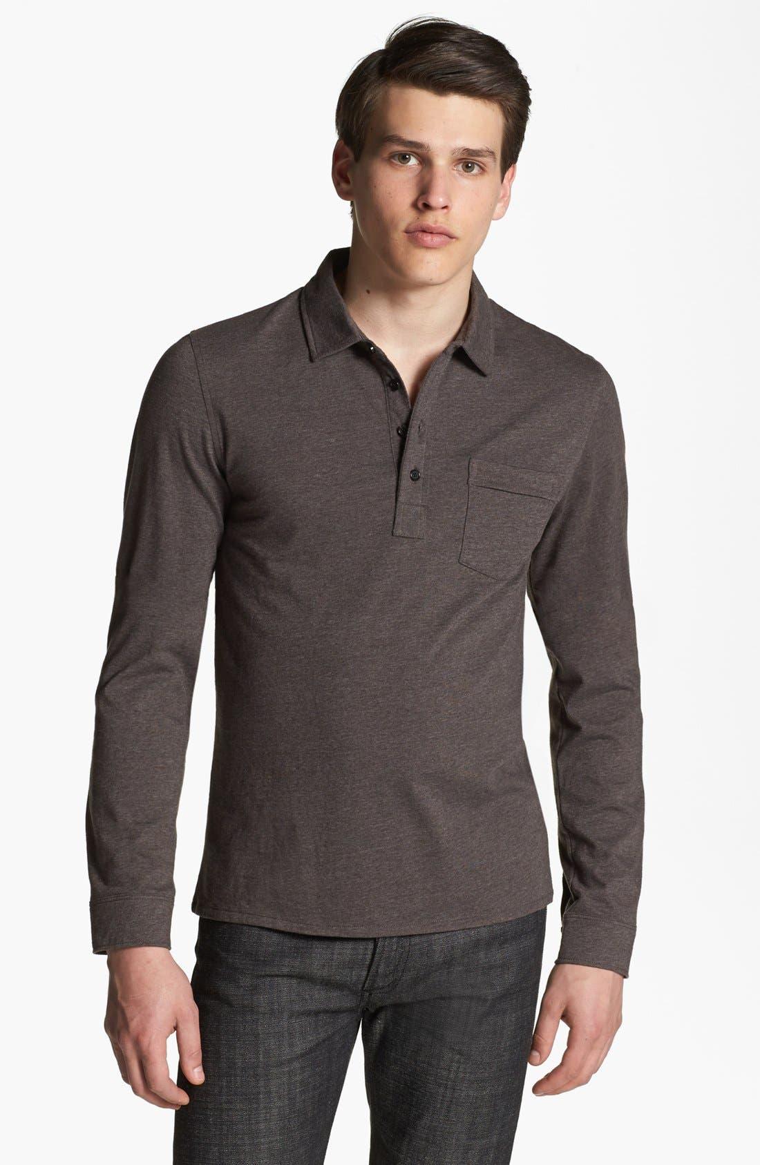 Alternate Image 1 Selected - Billy Reid Jersey Long Sleeve Polo