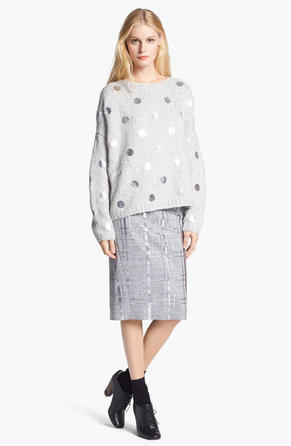 Alternate Image 2  - Elizabeth and James Foil Dot Sweater