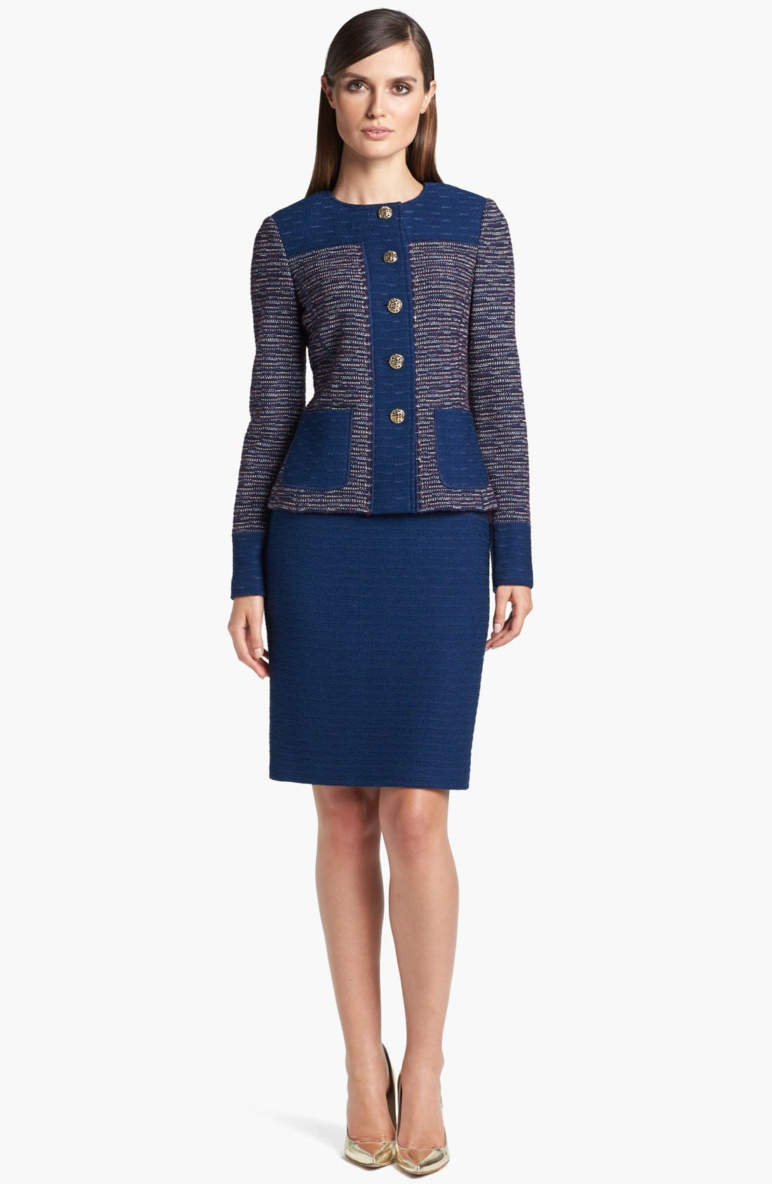 Alternate Image 4  - St. John Collection Space Dyed Tweed Sheath Dress