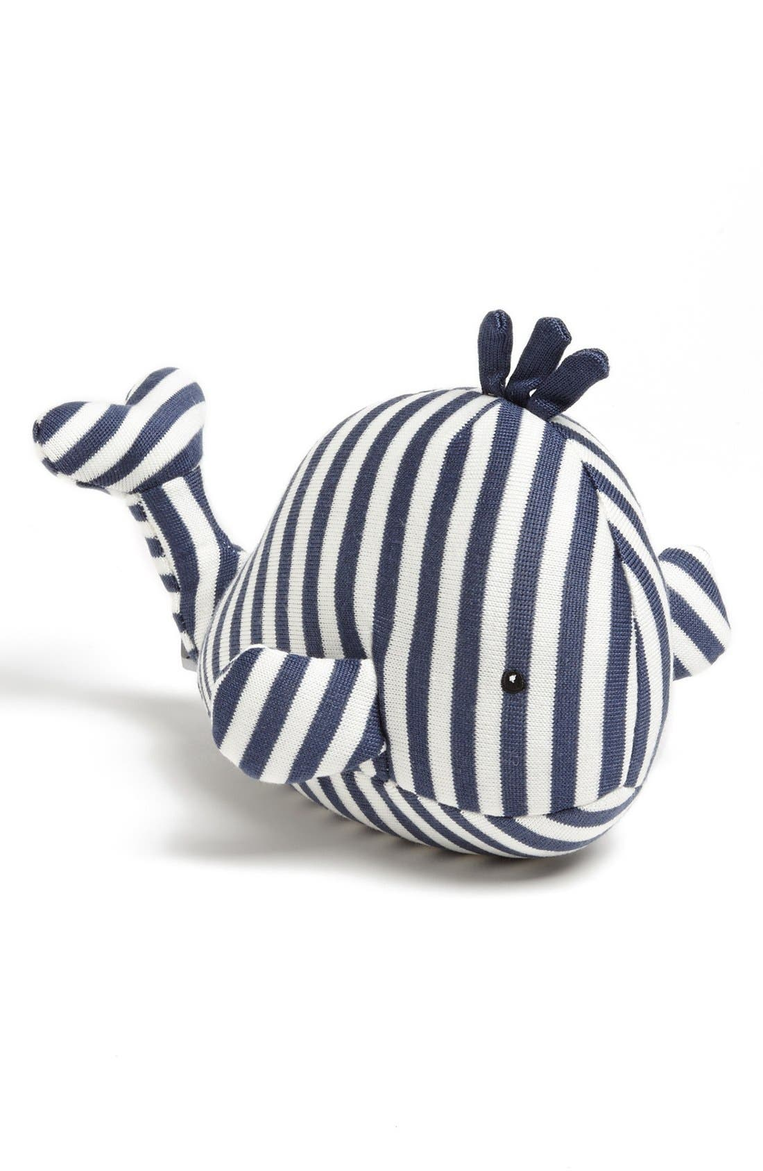 'Walter Whale' Chime Stuffed Animal,                         Main,                         color, Blue