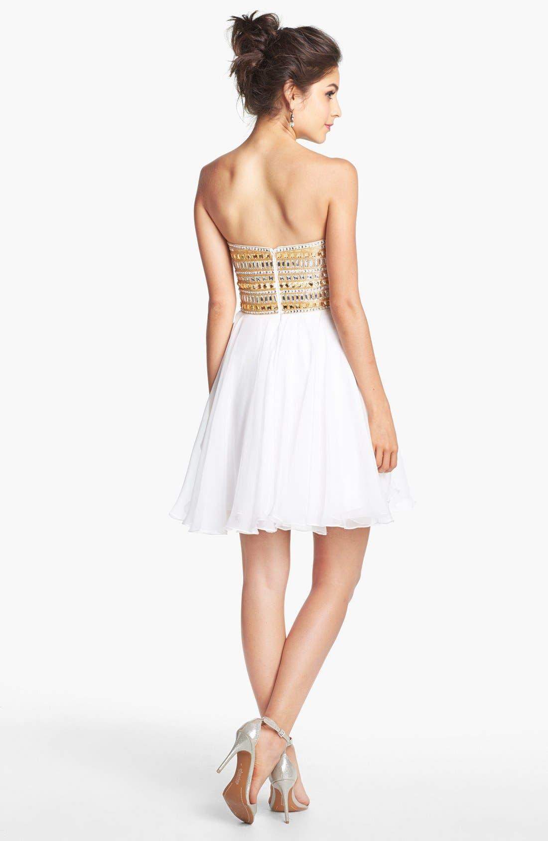 Alternate Image 2  - Sherri Hill Embellished Chiffon Fit & Flare Dress