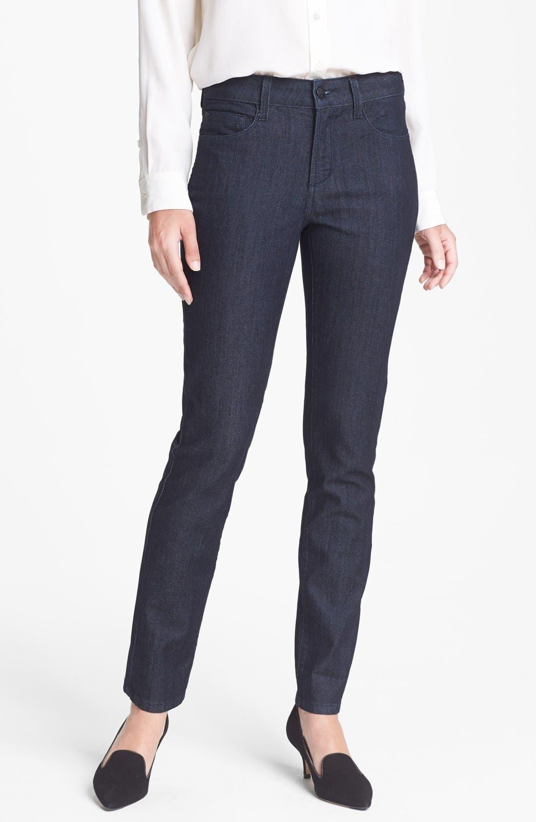 Main Image - NYDJ 'Alina' Stretch Skinny Jeans (Dark Enzyme) (Petite)