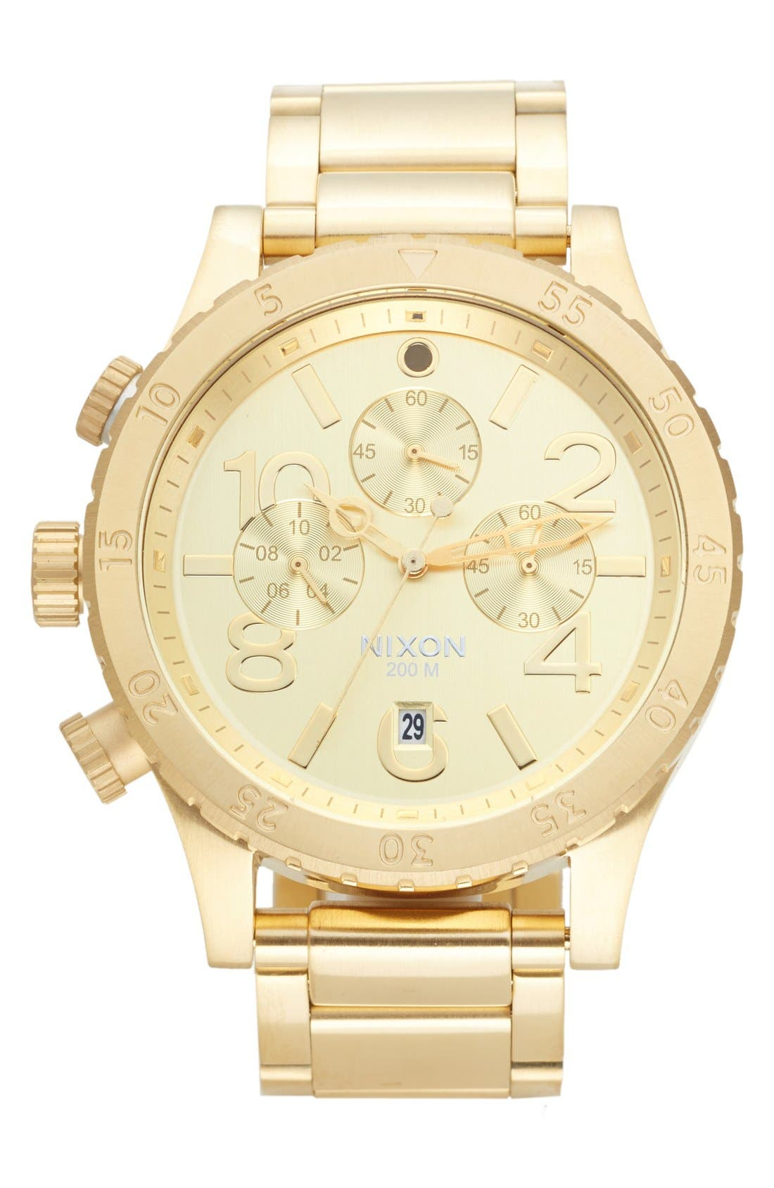 'The 48-20' Chronograph Watch, 48mm,                         Main,                         color, Gold