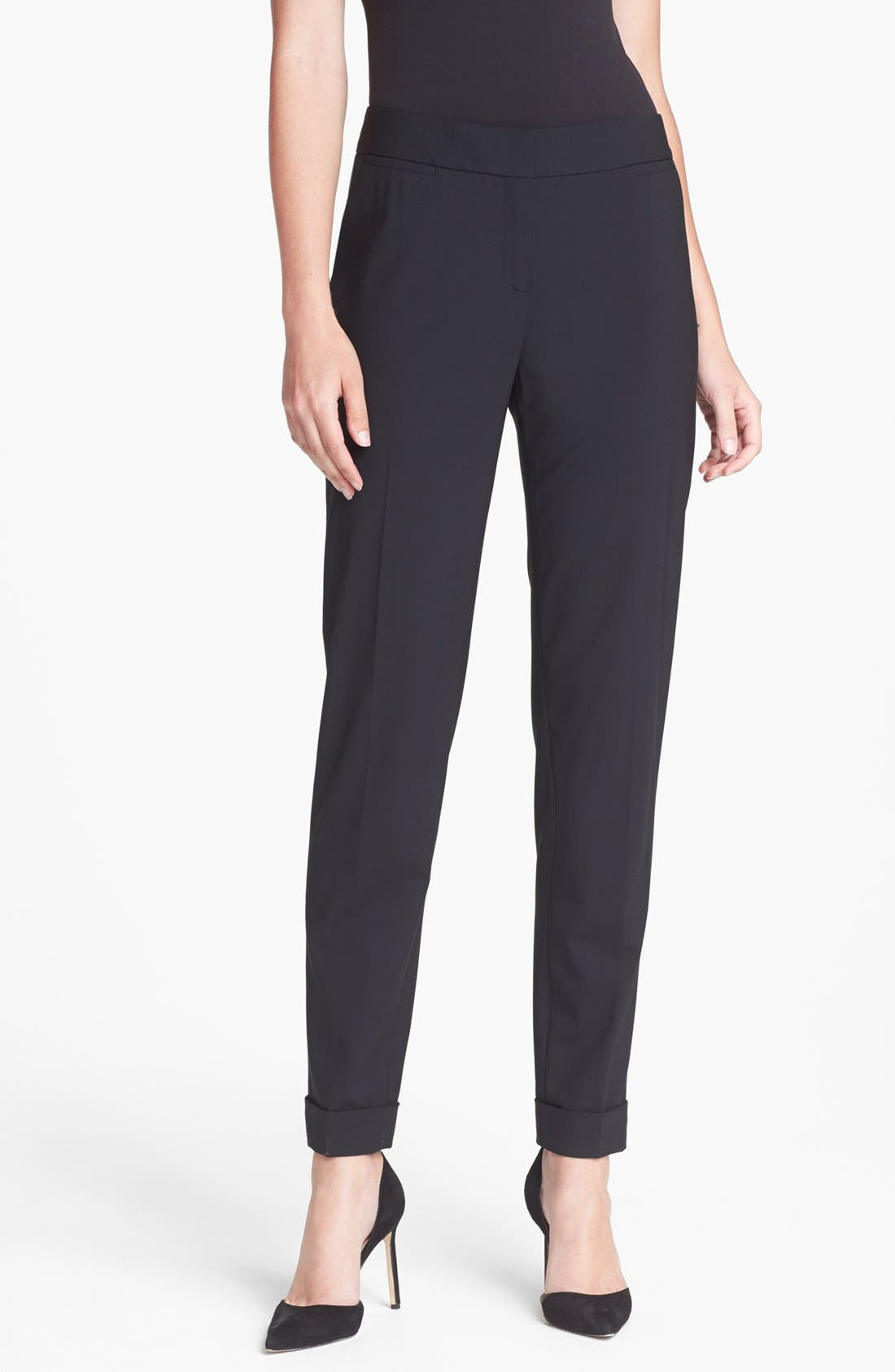 Alternate Image 1 Selected - Lafayette 148 New York Cuffed Slim Pants