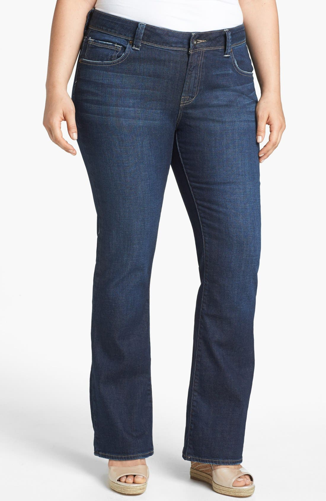 Alternate Image 1 Selected - Lucky Brand 'Georgia' Bootcut Jeans (Plus Size)