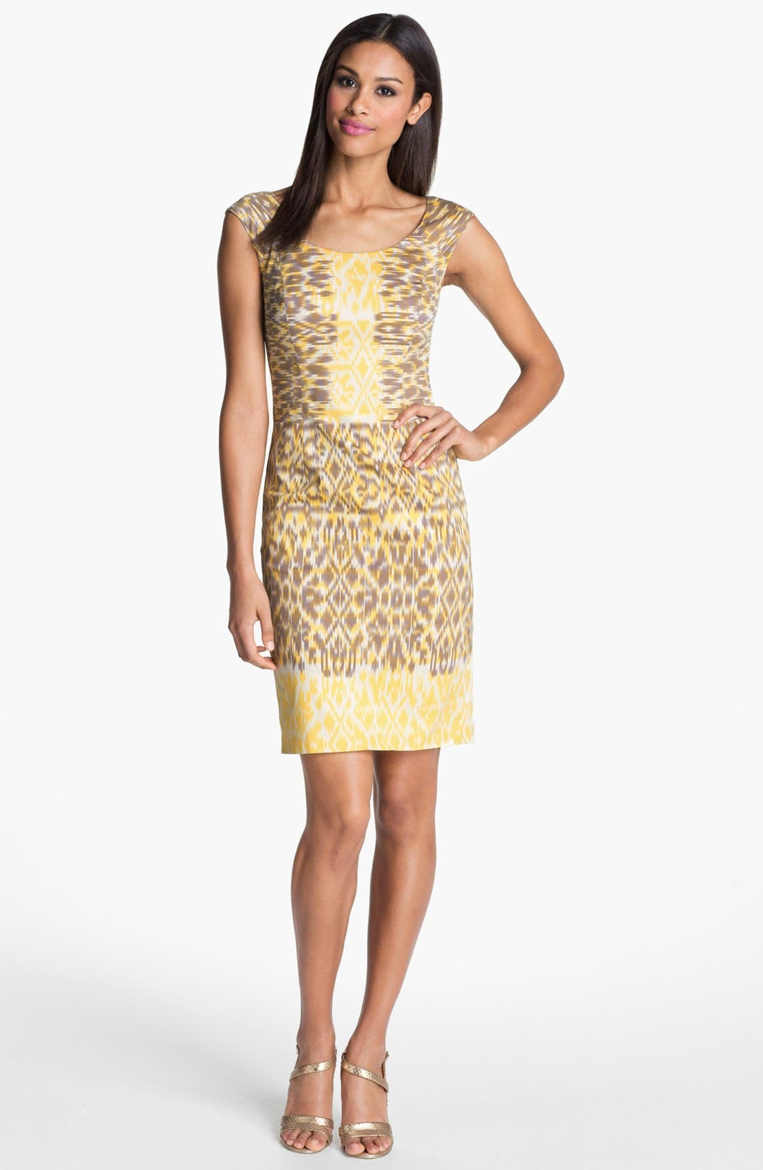 Alternate Image 1 Selected - Adrianna Papell Ikat Print Sheath Dress
