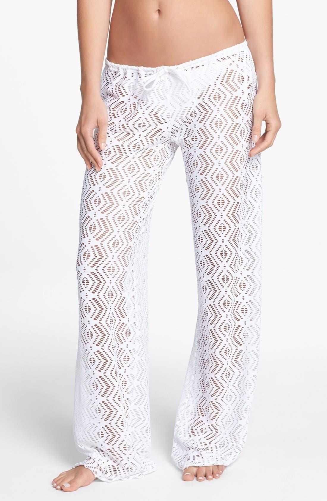 Main Image - Becca Crochet Cover-Up Pants