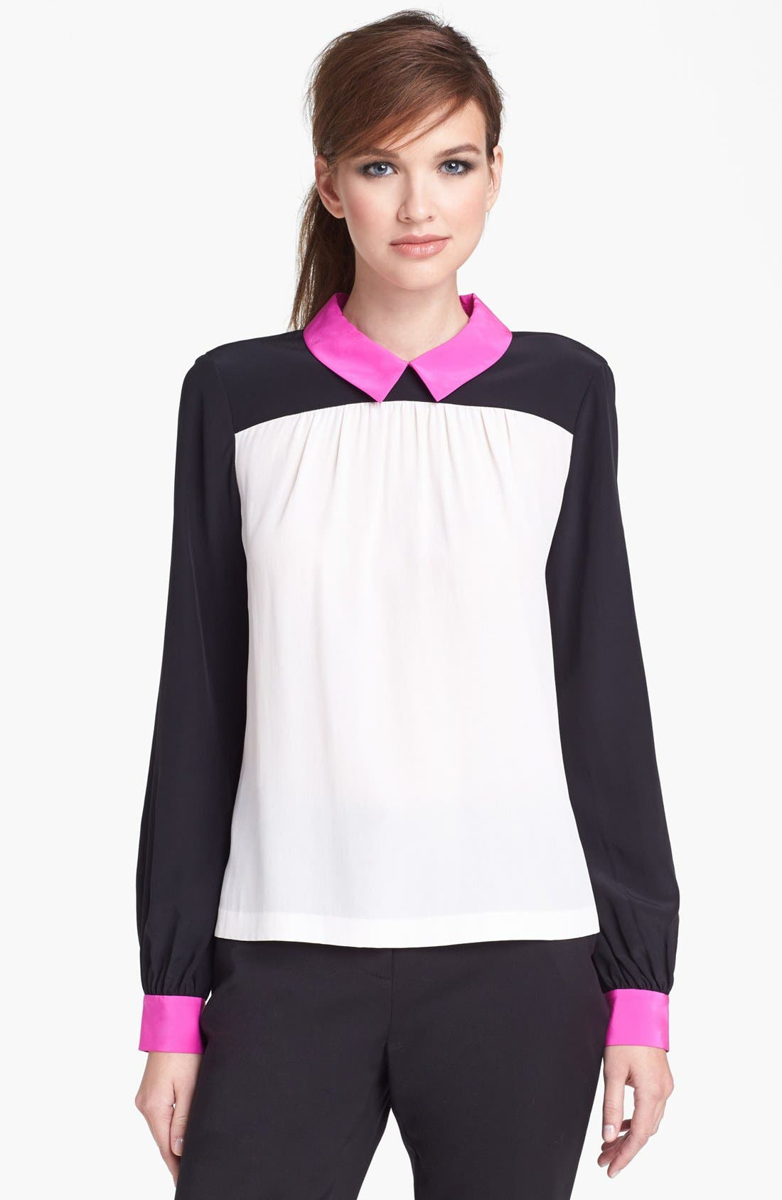 Alternate Image 1 Selected - kate spade new york 'shelley' silk top