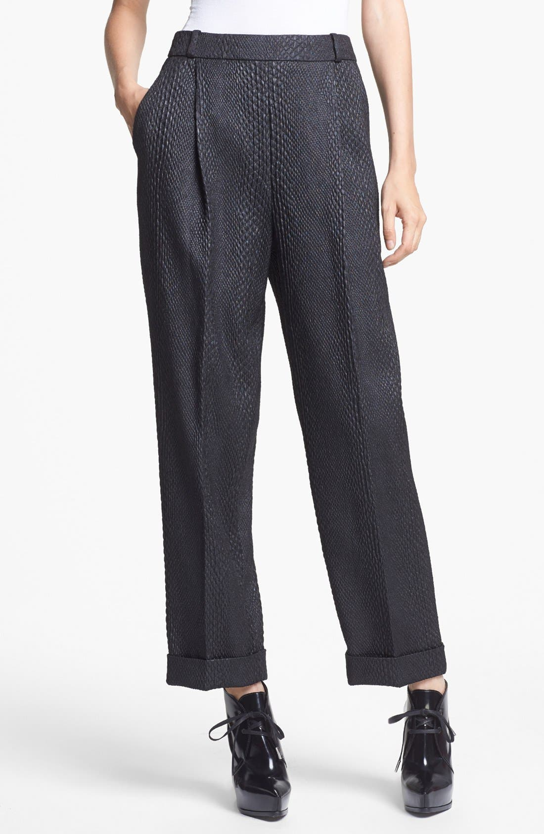 Main Image - J Brand Ready-to-Wear 'Asawa' Snakeskin Brocade Trousers
