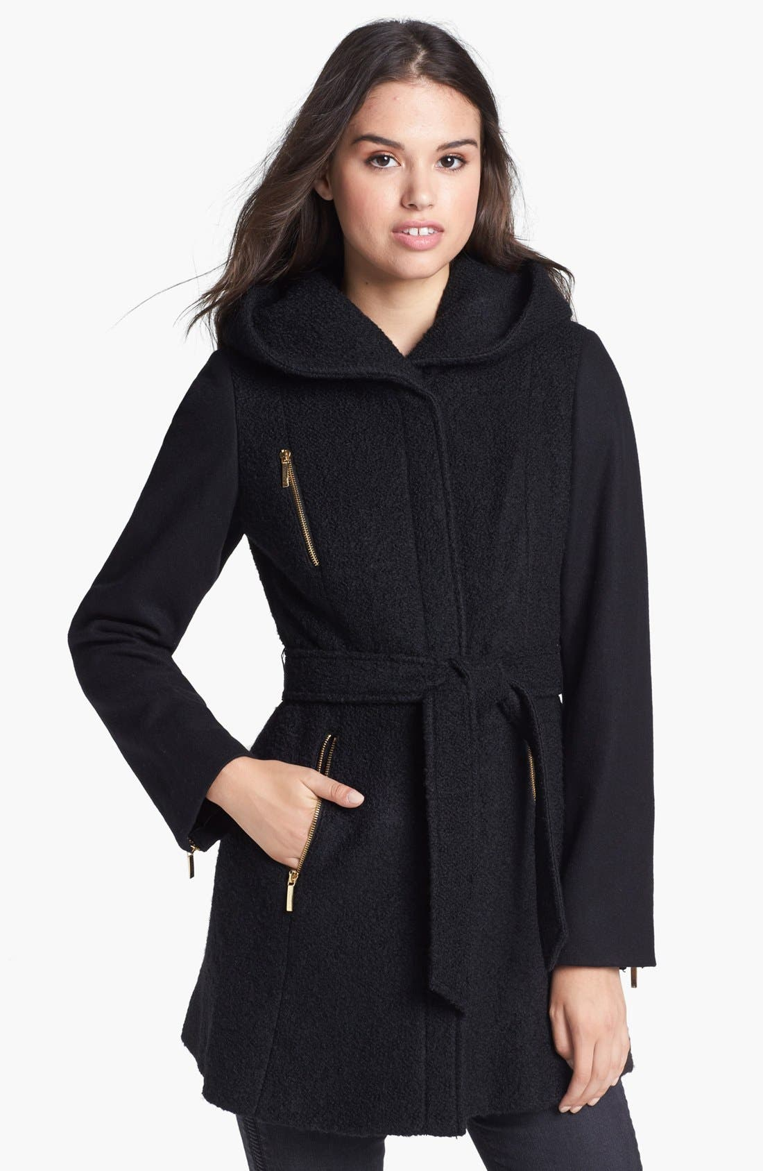 Main Image - Laundry by Shelli Segal Belted Mixed Wool Blend Jacket