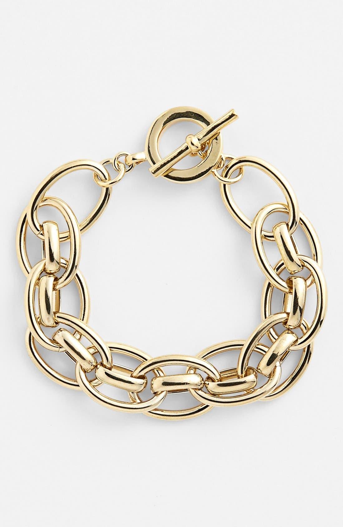 Main Image - Lauren Ralph Lauren Chunky Link Toggle Bracelet