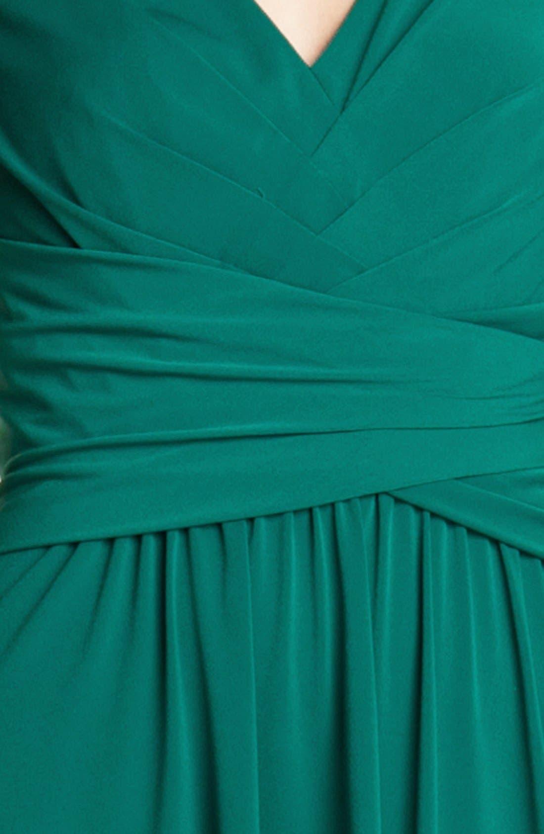 Alternate Image 3  - Ivy & Blu Pleated Front V-Neck Dress
