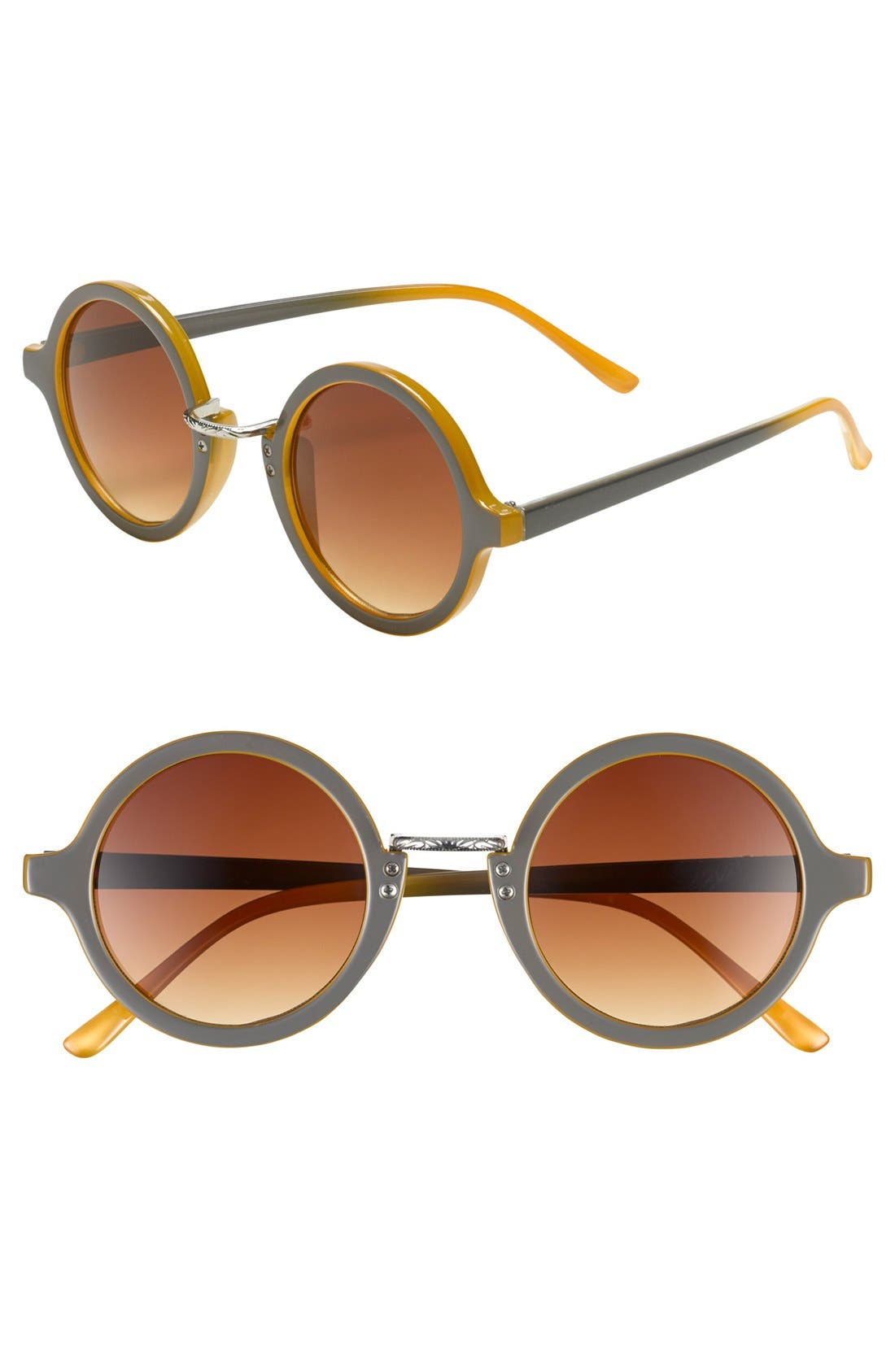 Alternate Image 1 Selected - Leith Round Sunglasses