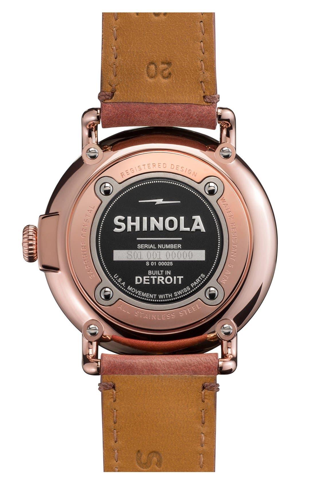 Alternate Image 2  - Shinola 'The Runwell' Leather Strap Watch, 41mm