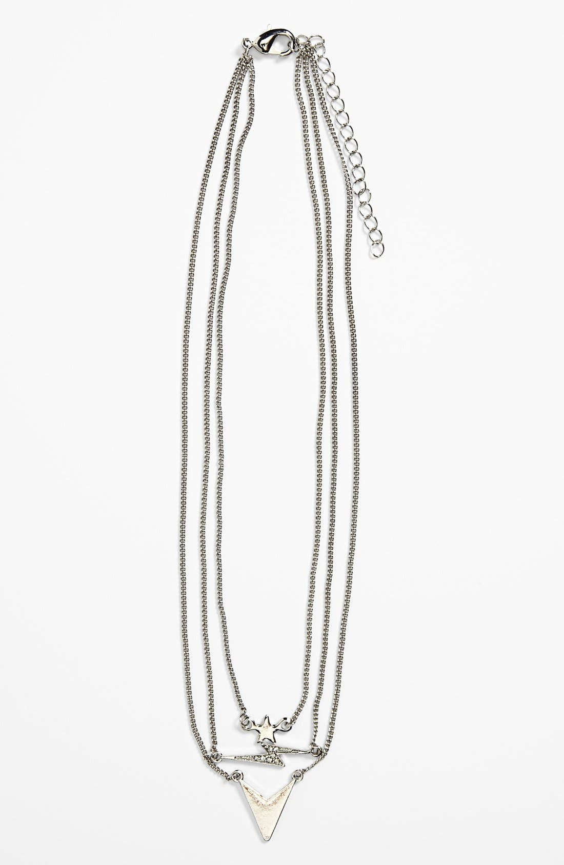 Alternate Image 1 Selected - Stephan & Co. Layered Chain Necklace (Juniors)
