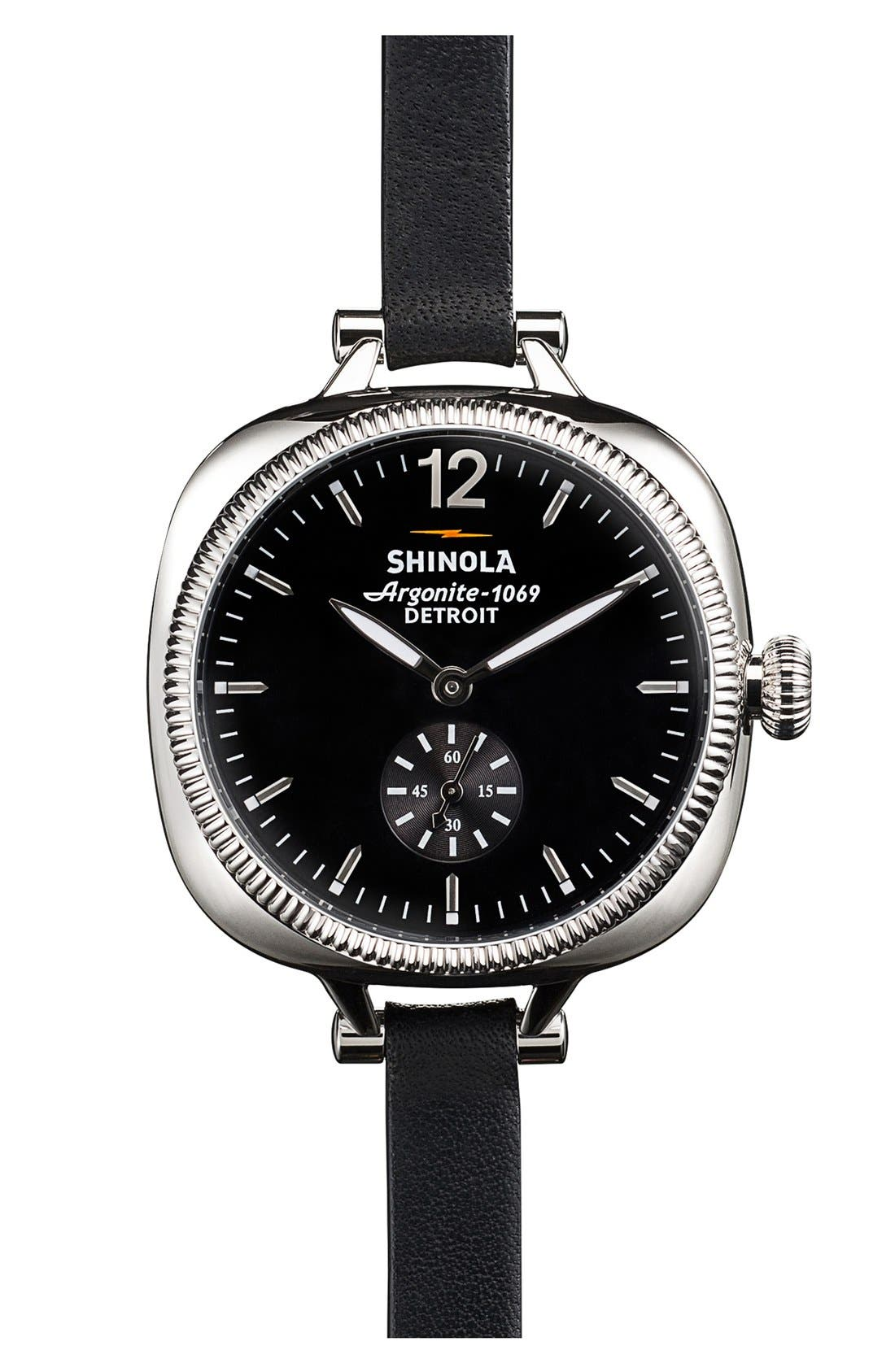 Main Image - Shinola The Gomelsky Leather Strap Watch, 36mm